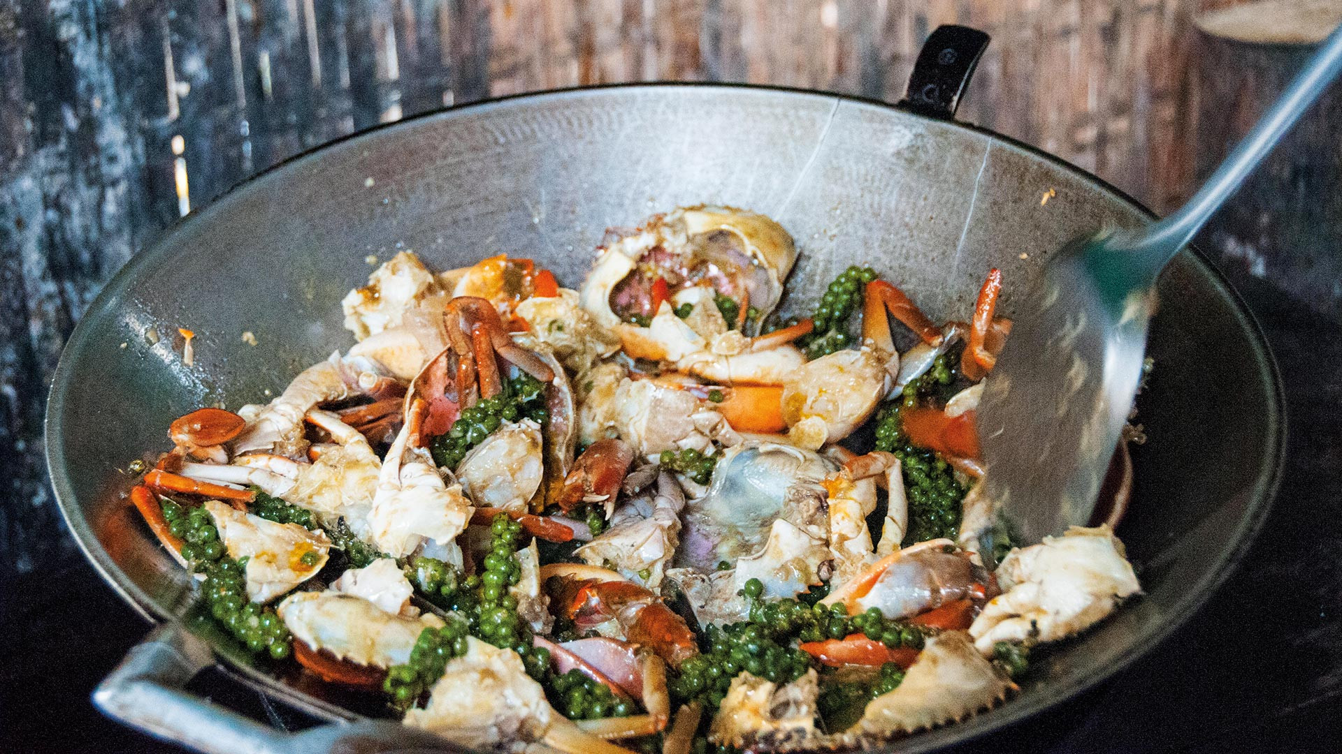 Kep's signature dish, fried blue crab with kampot pepper