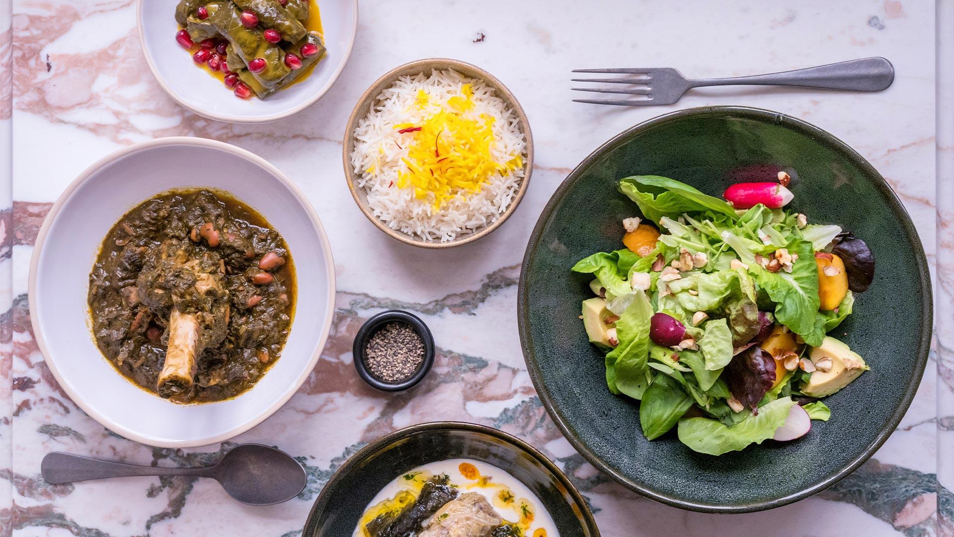 A selection of dishes at Villa Mama's