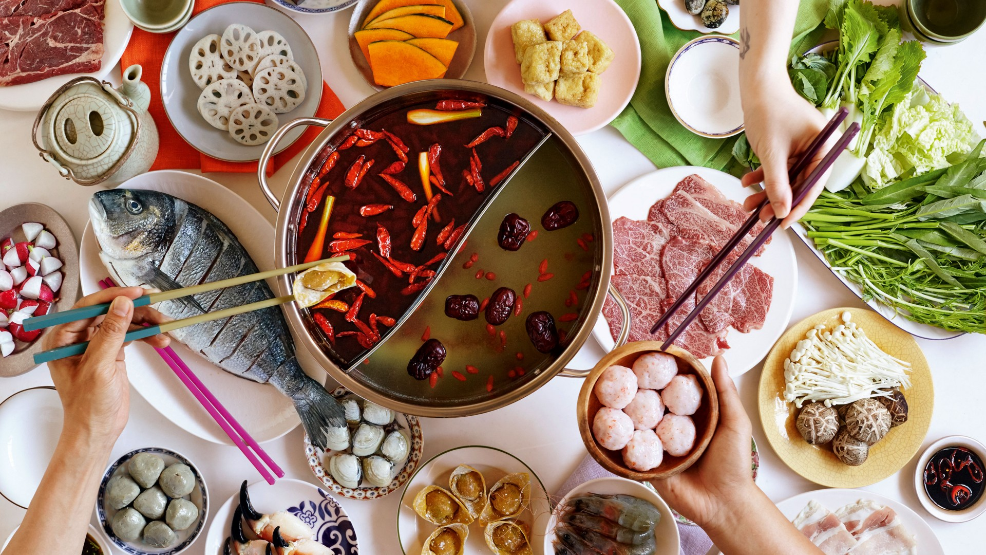 Hot pot at Shuang Shuang in Chinatown