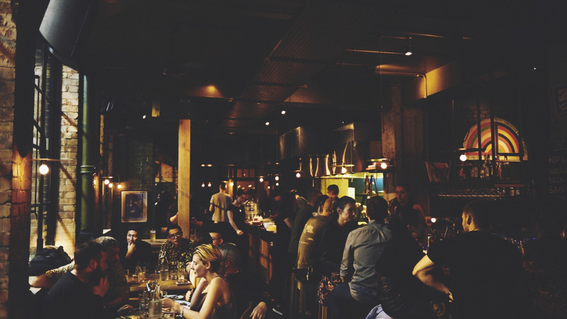 The bustling interior at Smoking Goat Shoreditch on Redchurch Street