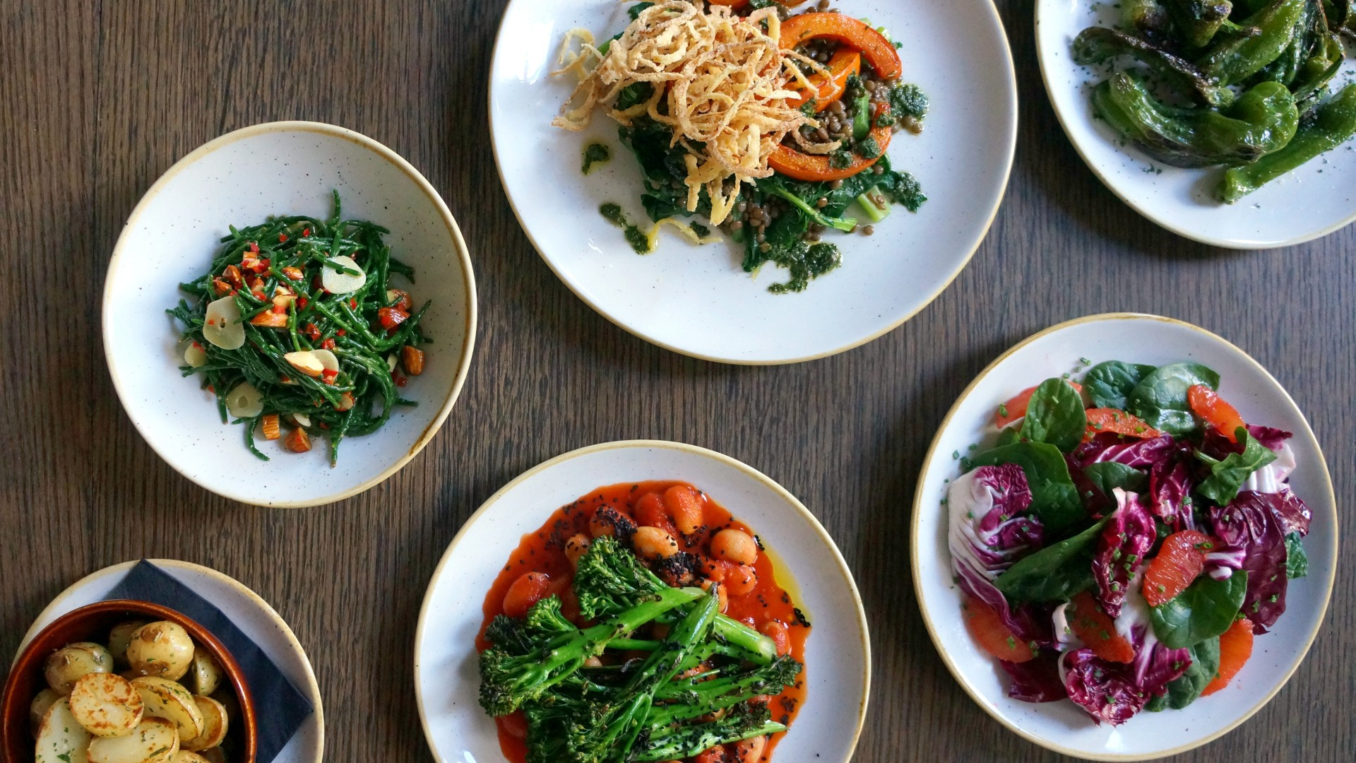 A selection of vegan dishes at Arthur Hooper's in Borough Market