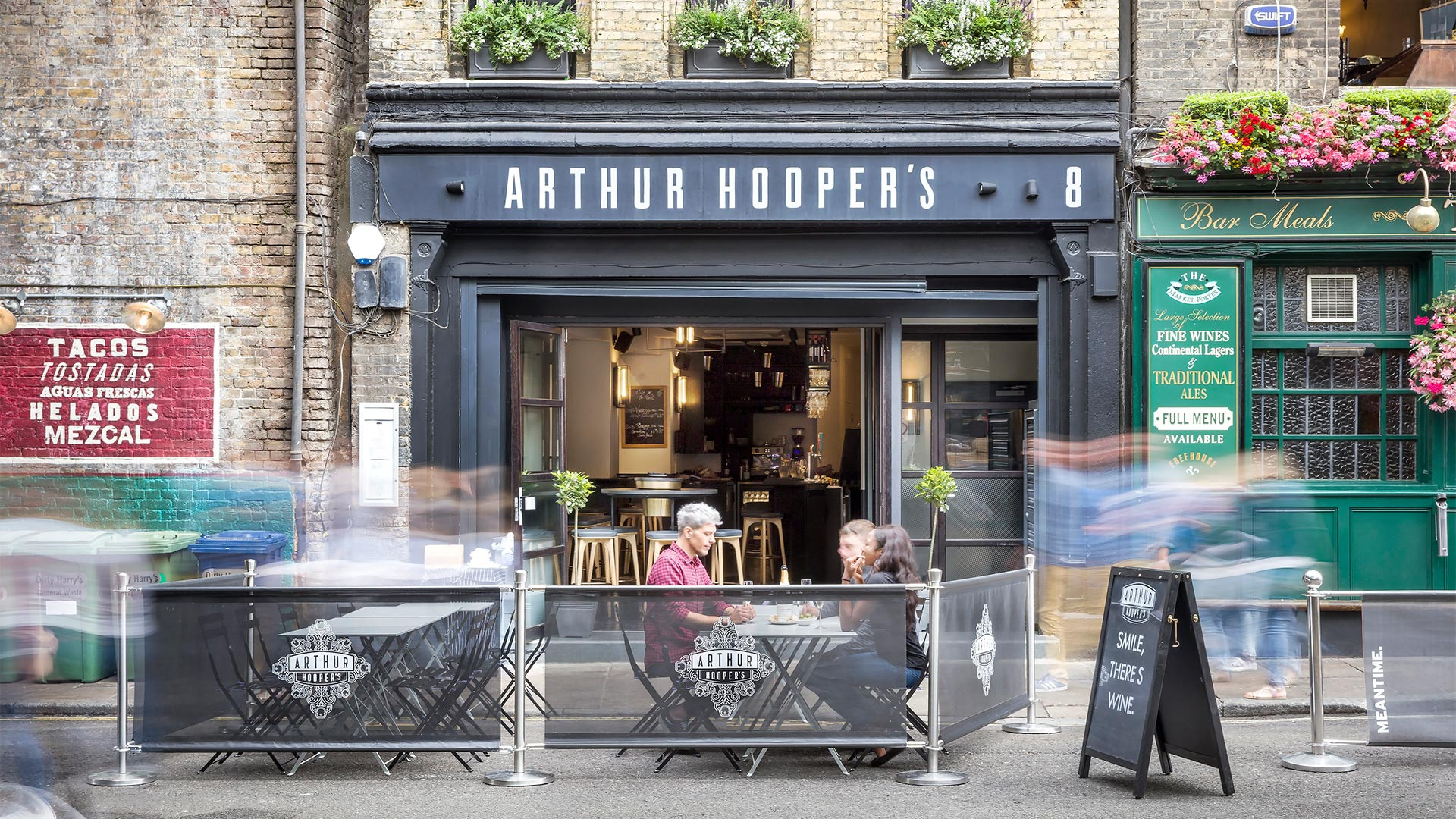Arthur Hooper's restaurant and wine bar in Borough Market