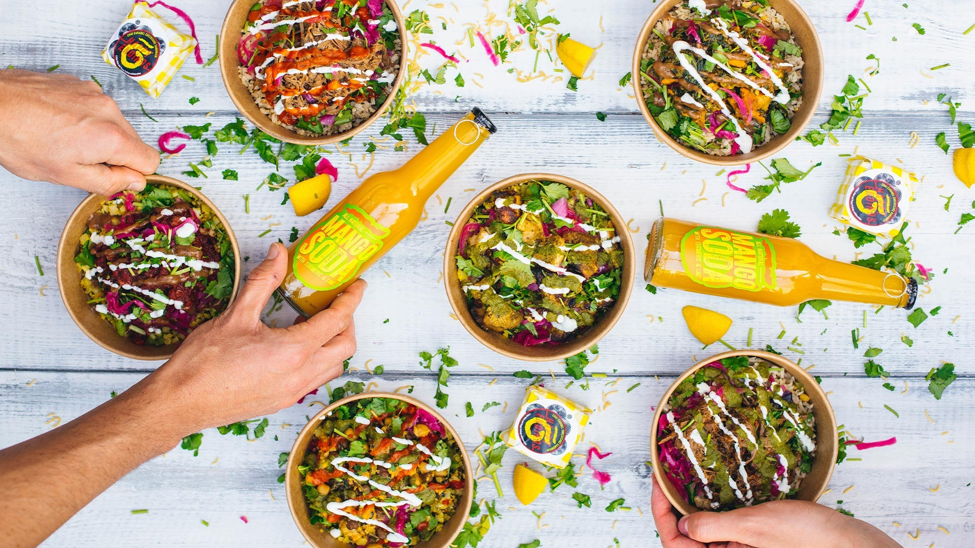 Rola Wala's colourful menu is great for meat eaters and vegans alike