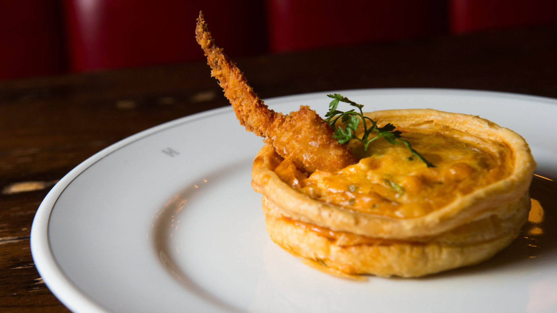 The lobster thermidor tart from Holborn Dining Room