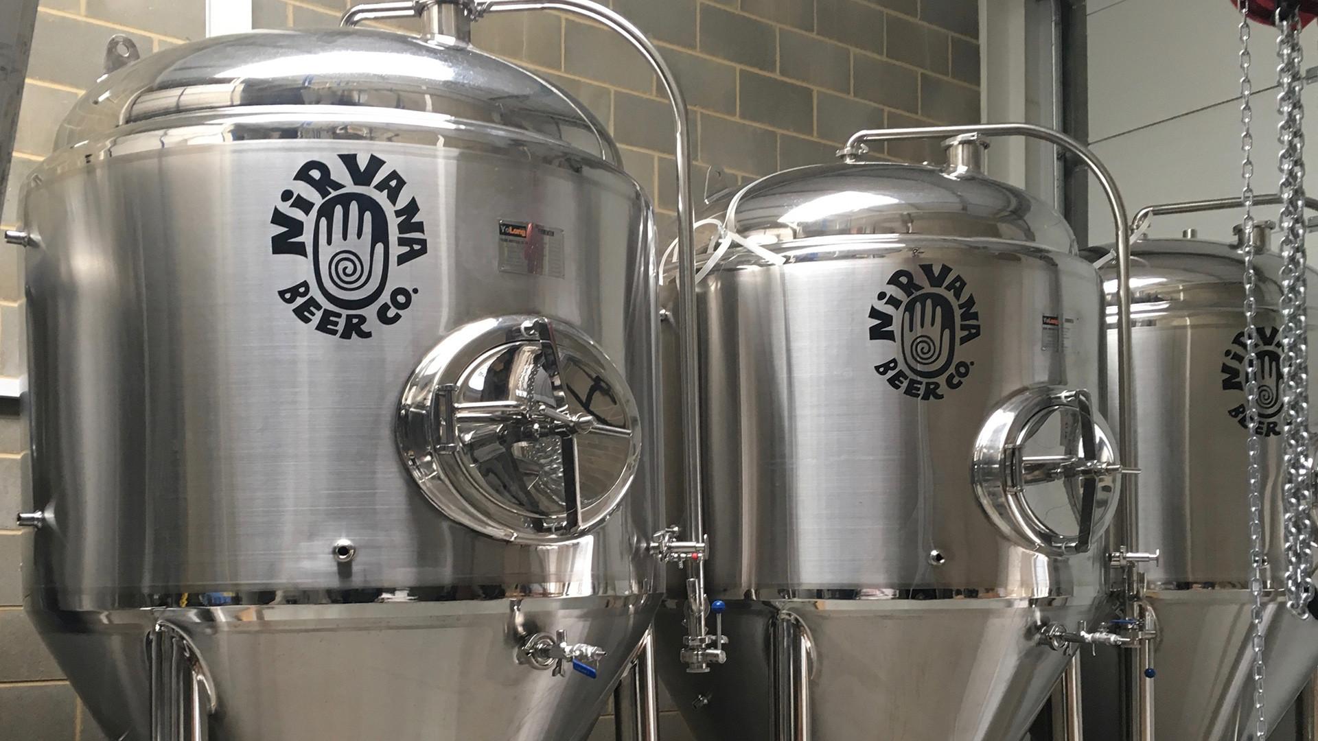 Fermenting tanks at Nirvana Beer Co.
