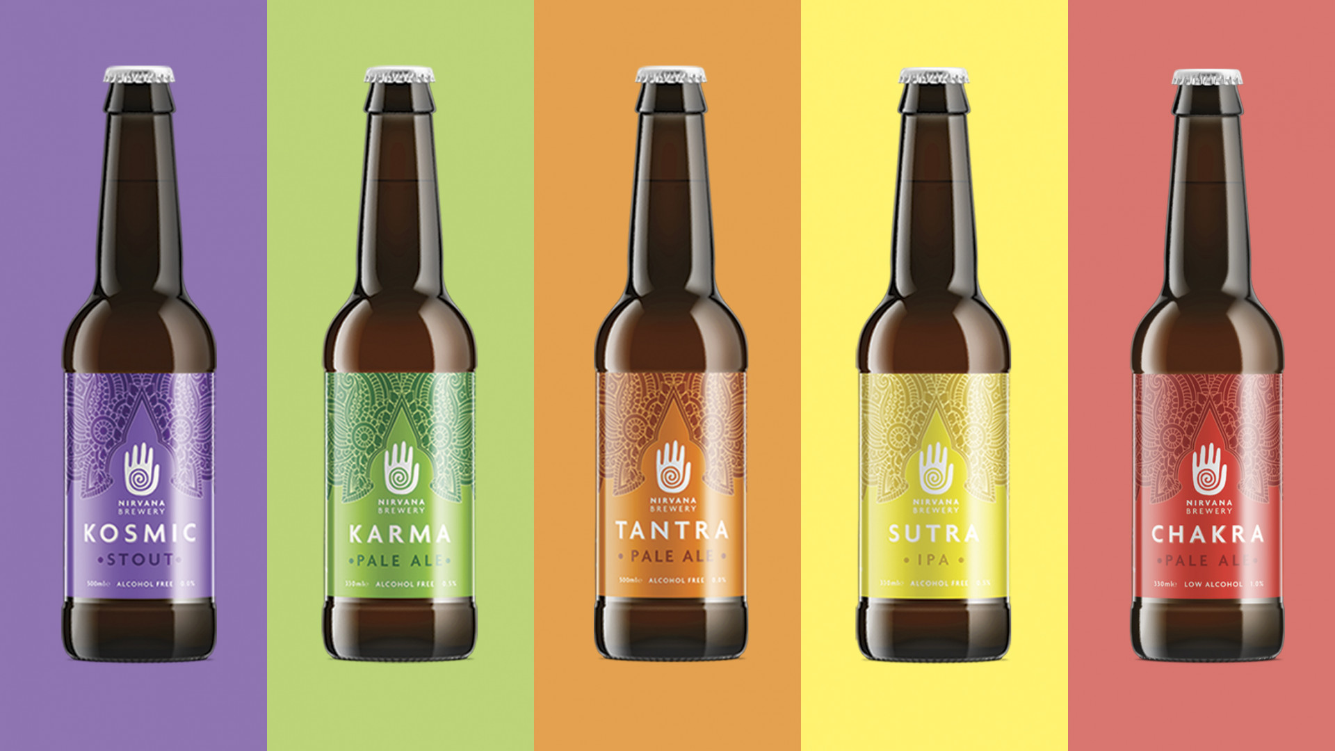 Nirvana Beer Co.'s selection of alcohol-free beers