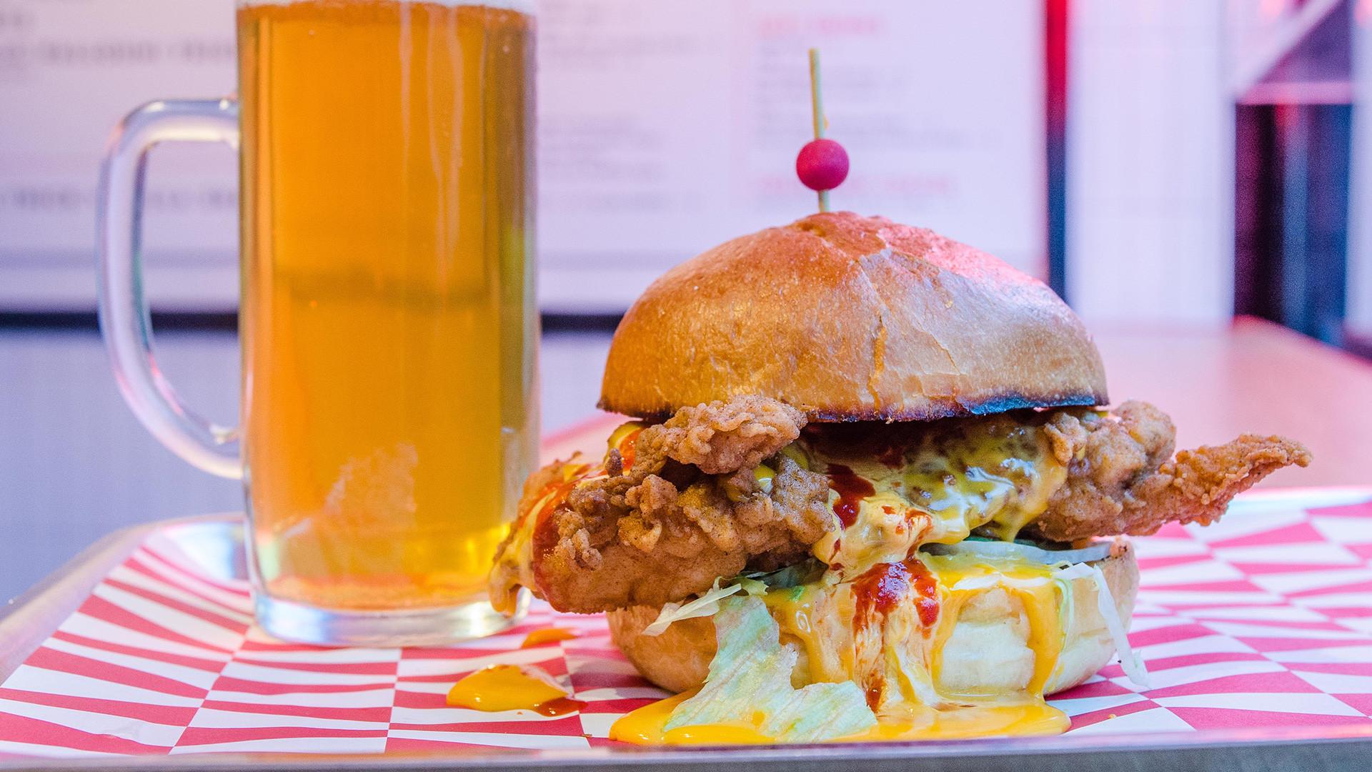 Butchies' Cheesy Rider chicken sandwich