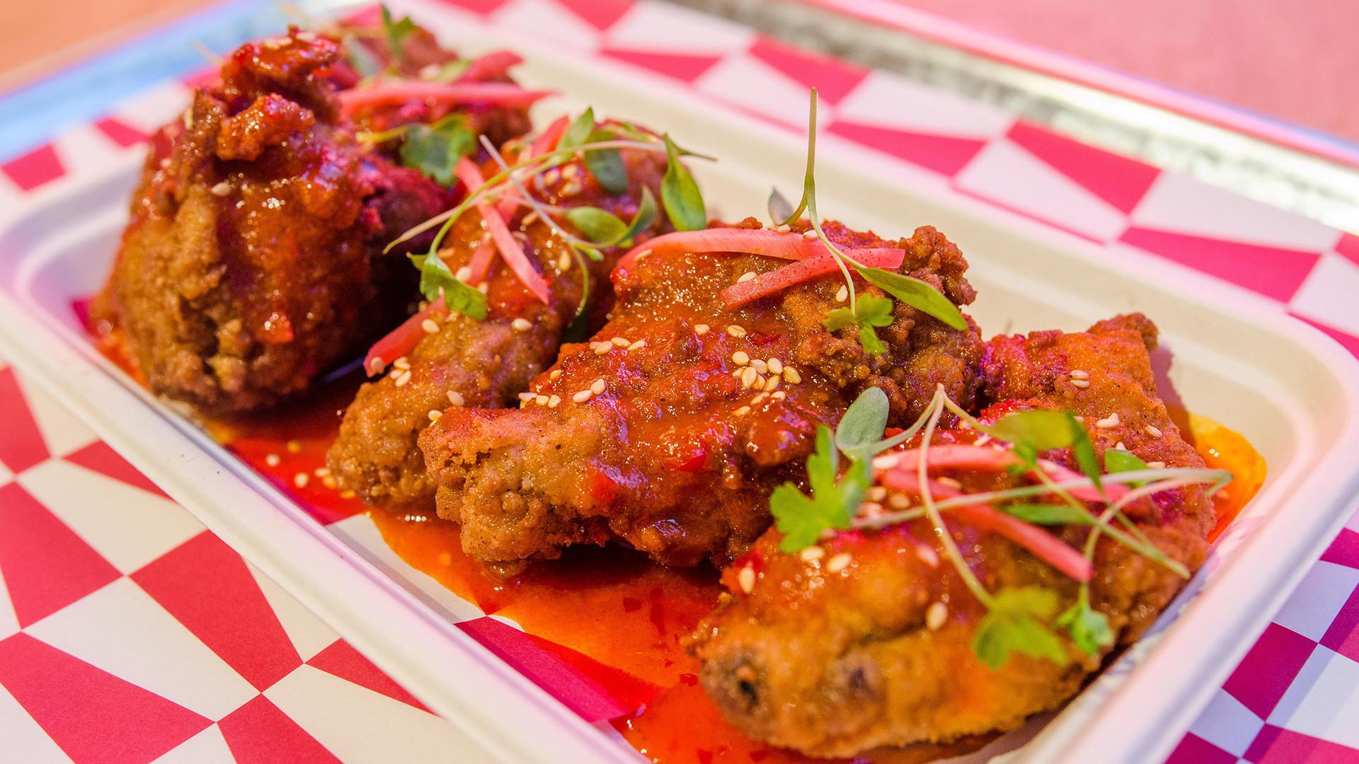 Kimchi honey-butter chicken wings