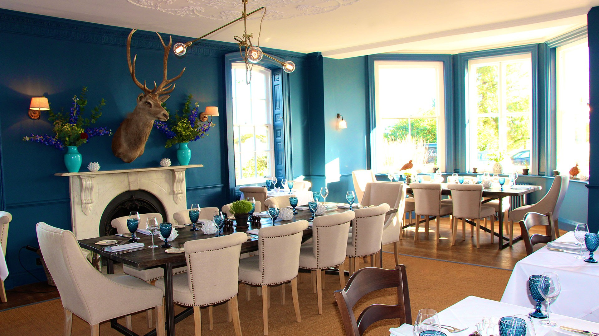 The dinning room at Verzon House in Ledbury, Herefordshire