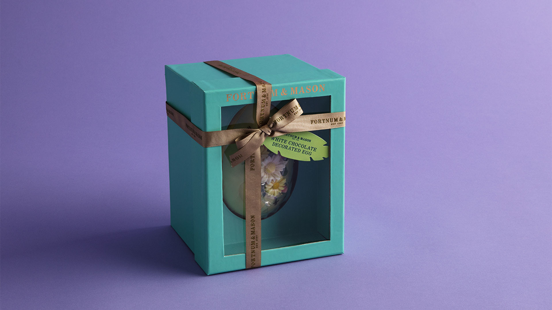 Fortnum and Mason white chocolate hand-decorated Easter egg
