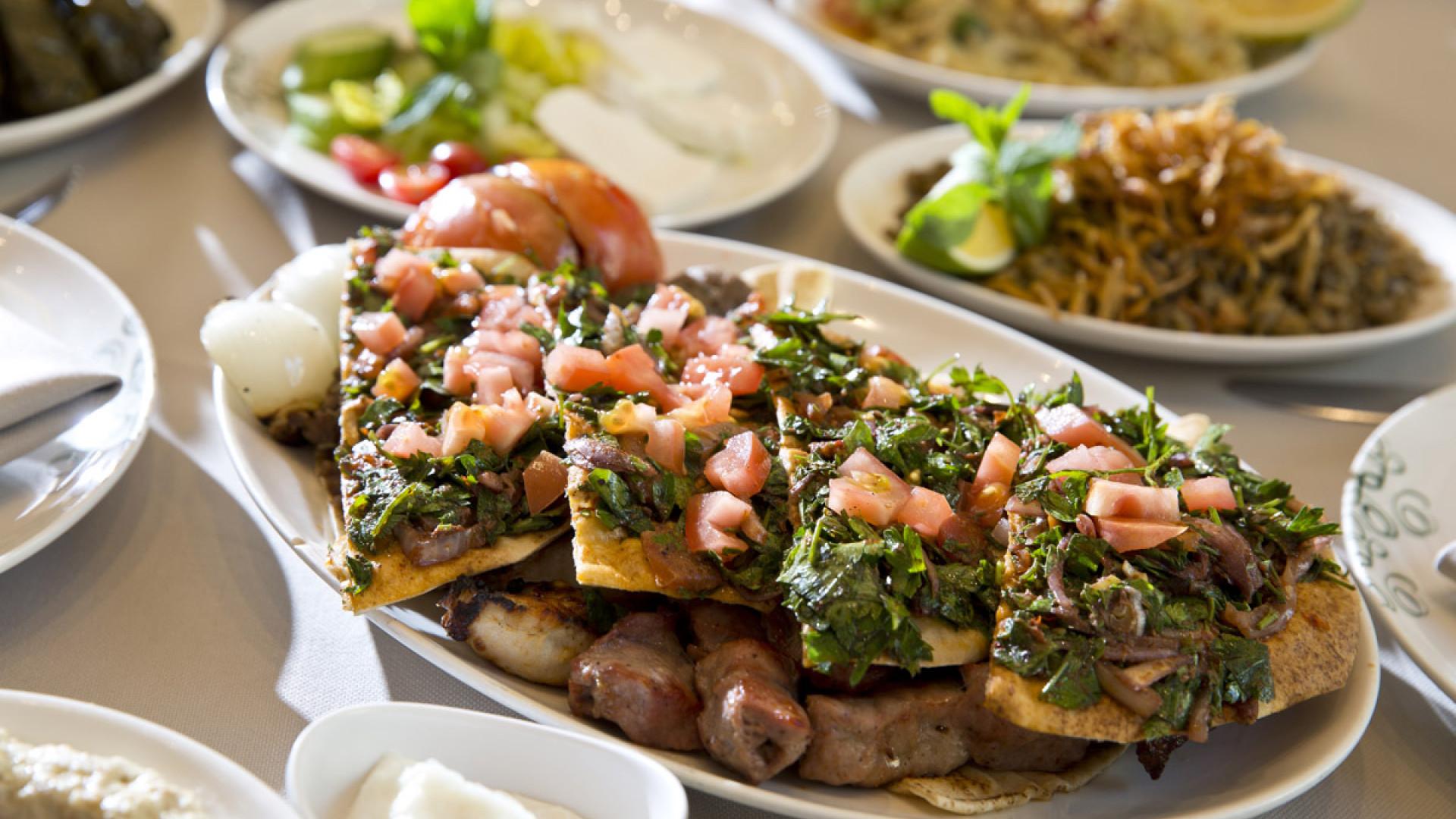 Lebanese feasting at Abd el Wahab