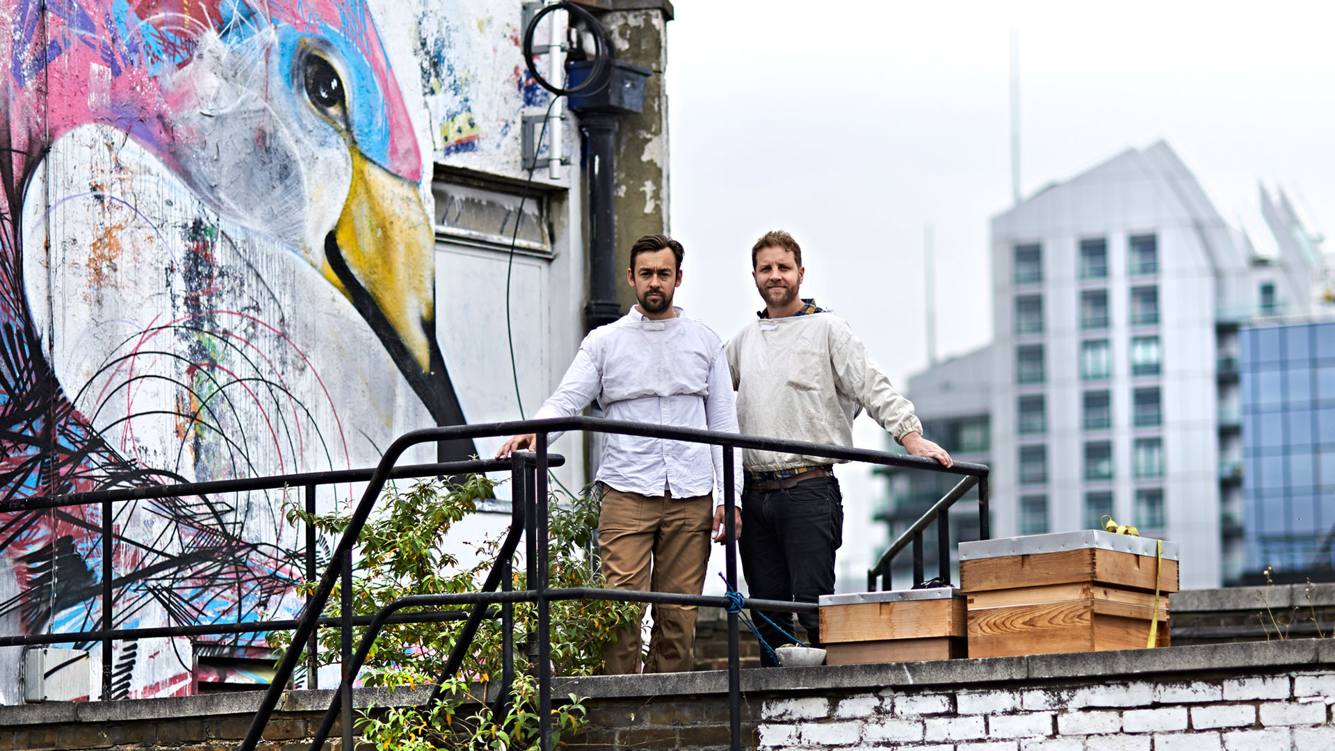 Black Bee Honey founders Chris Barnes and Paul Webb (pictured right)
