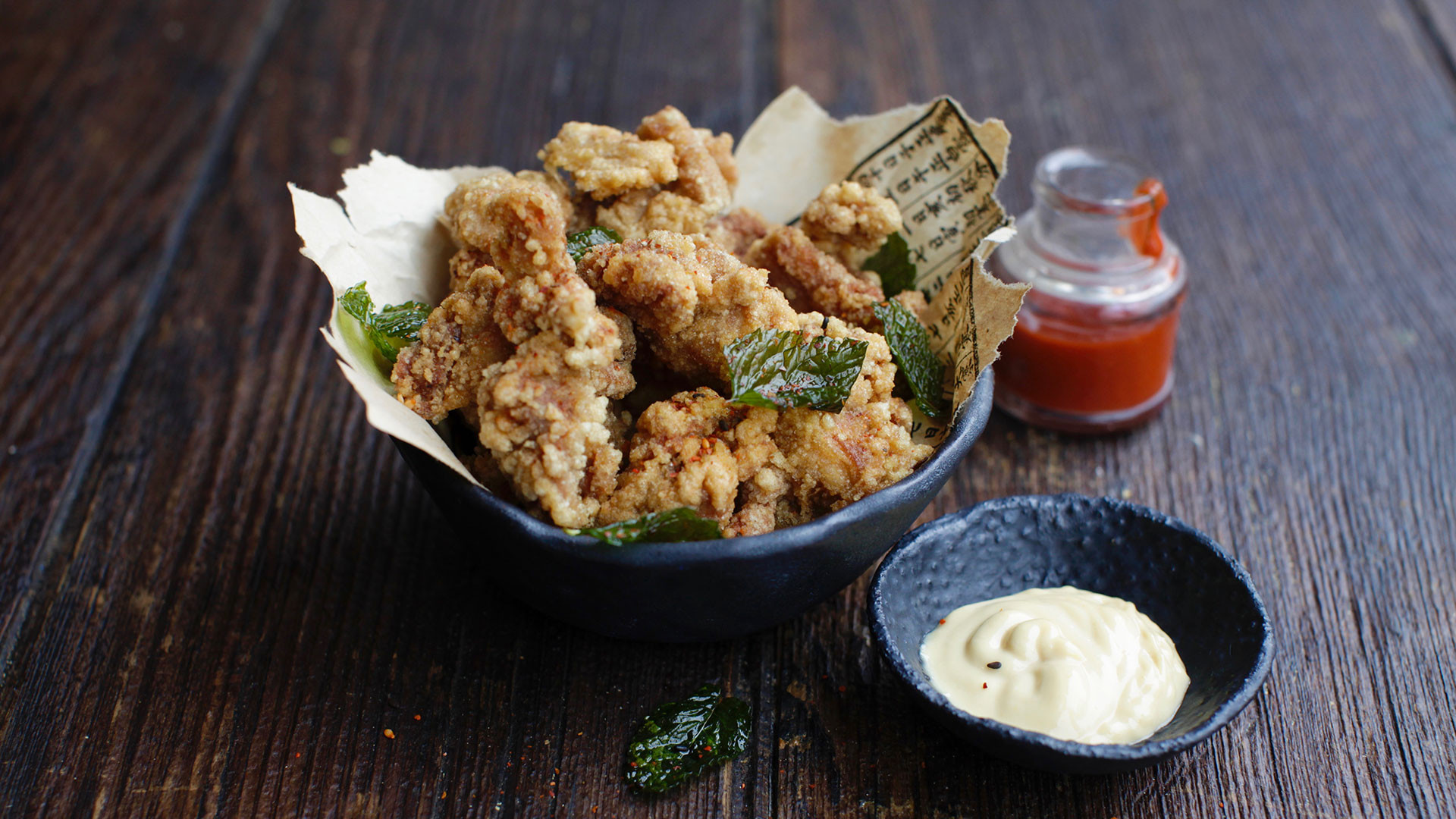 Fried chicken with smoked miso mayo