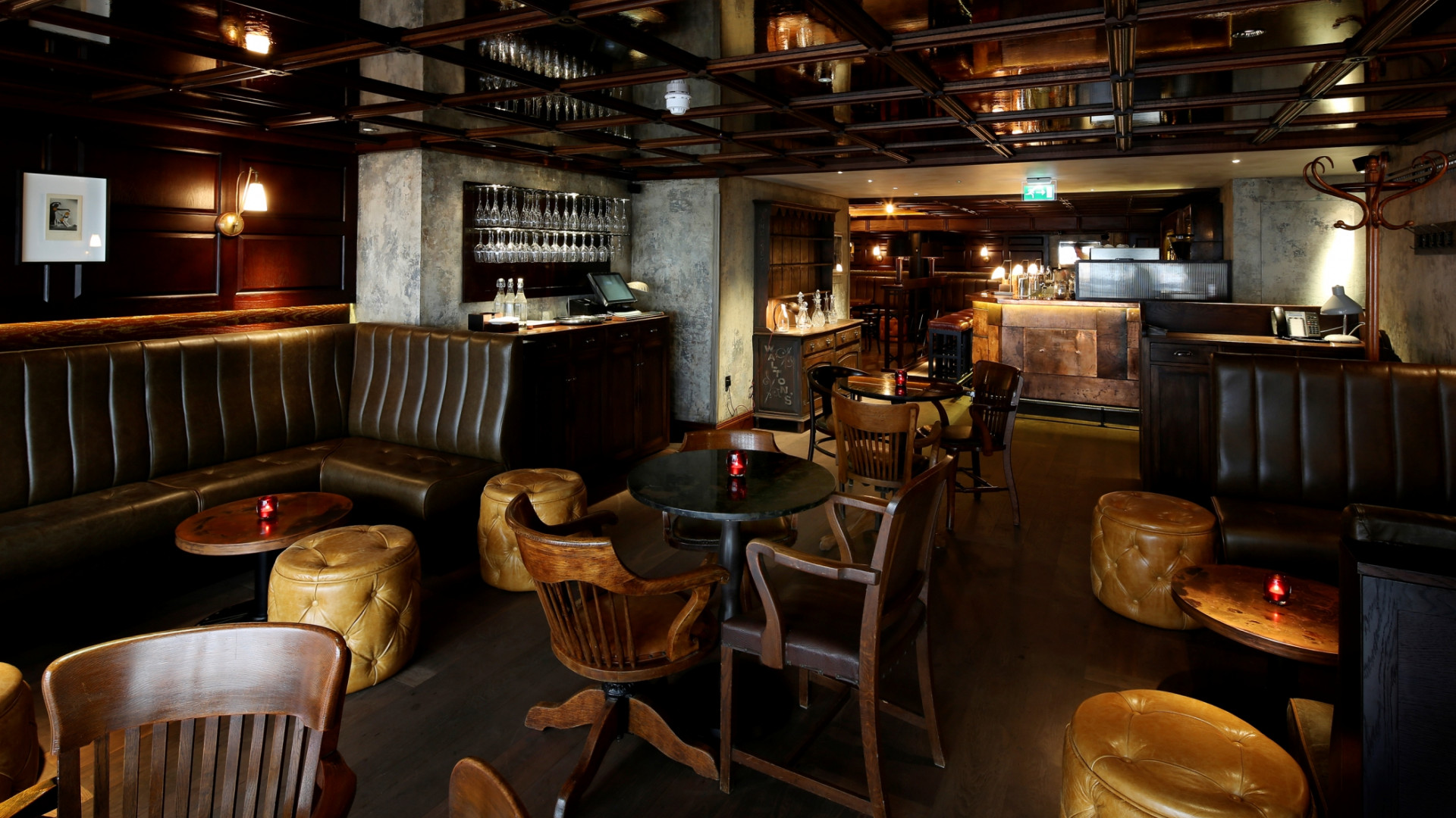 The interiors at Social Eating House's Blind Pig bar in Soho