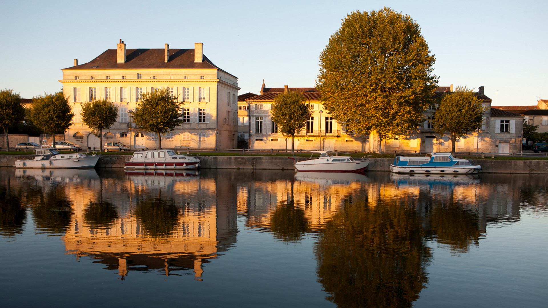The picturesque Courvoisier house in Jarnac