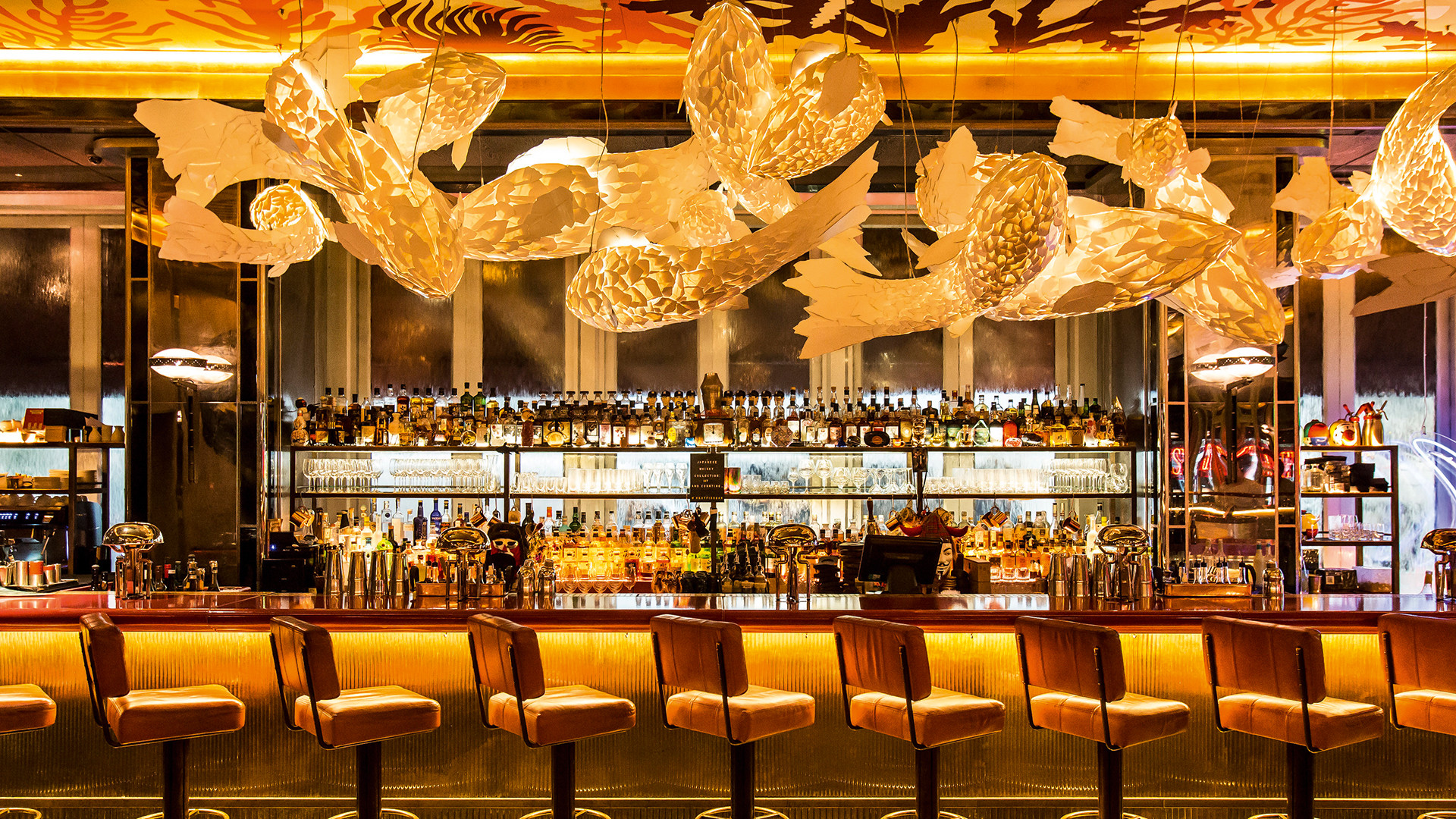 The bar at Sexy Fish, Mayfair