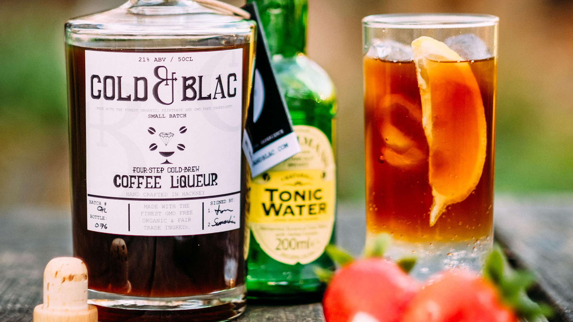 COLD&BLAC coffee liqueur and tonic