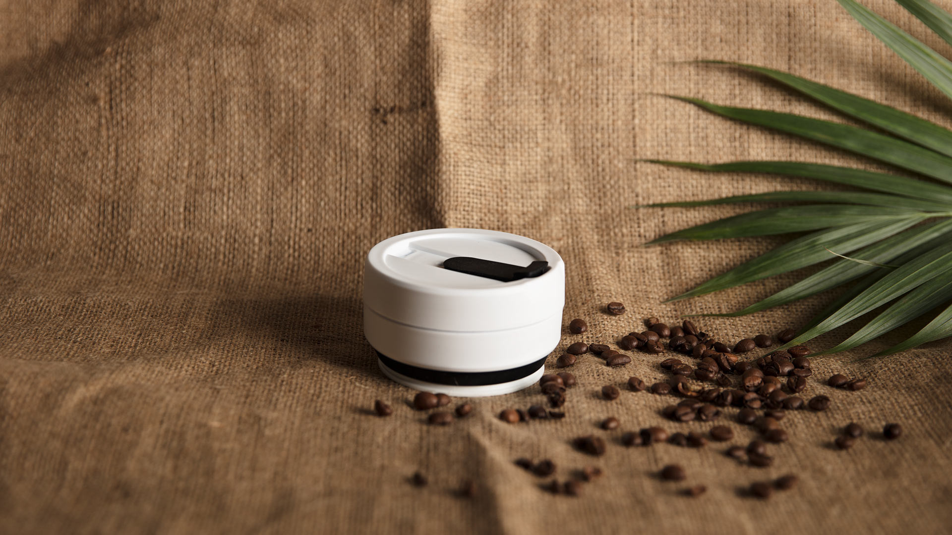 STOJO collapsible cup in black