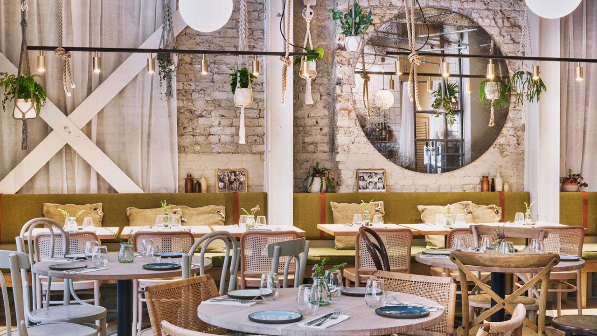 The interiors at Delamina Marylebone