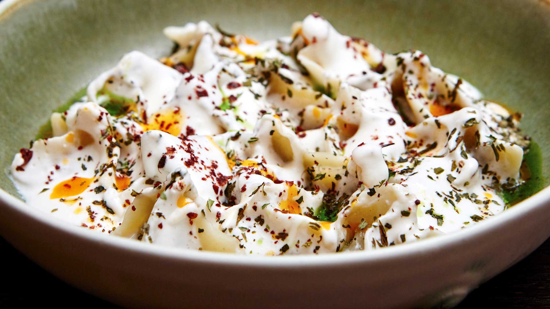 Turkish manti with a twist at Yosma