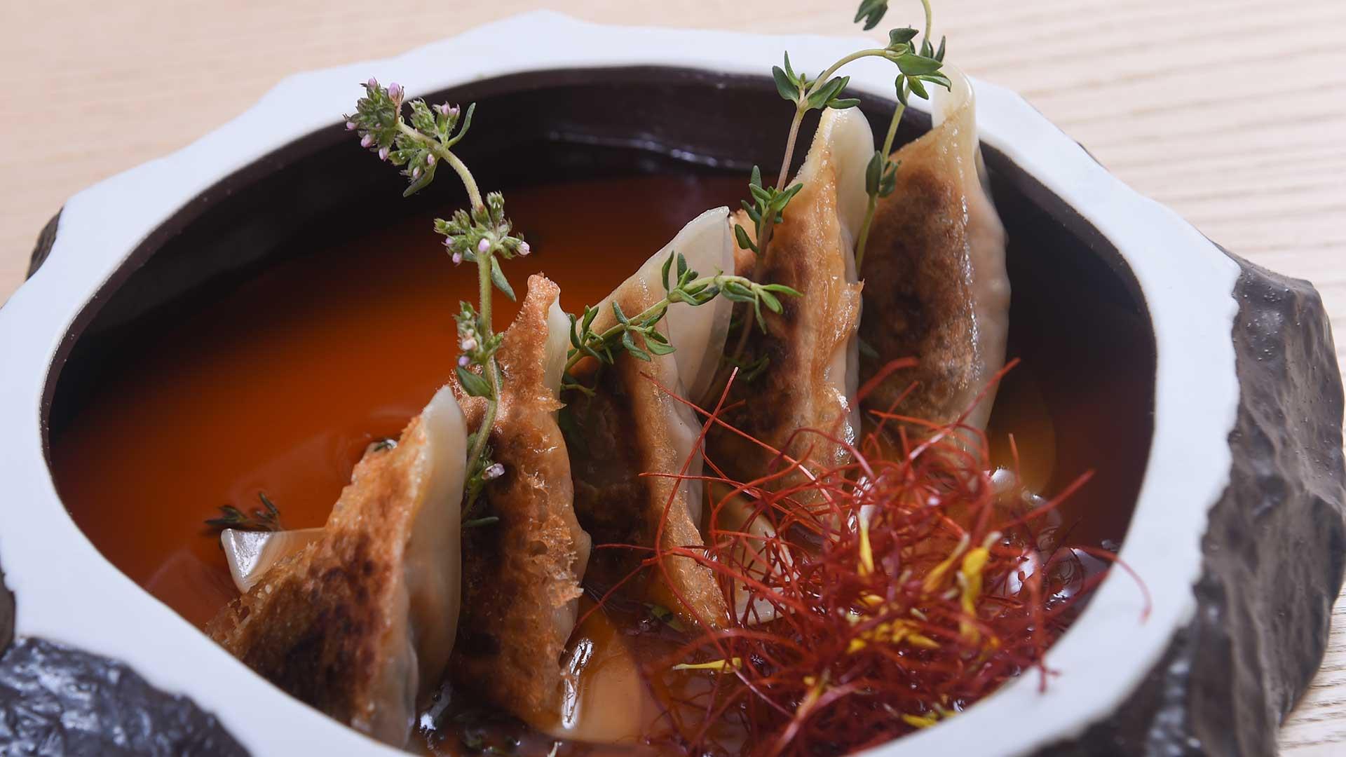 Japanese wagyu-beef dumplings from Ginza Onodera
