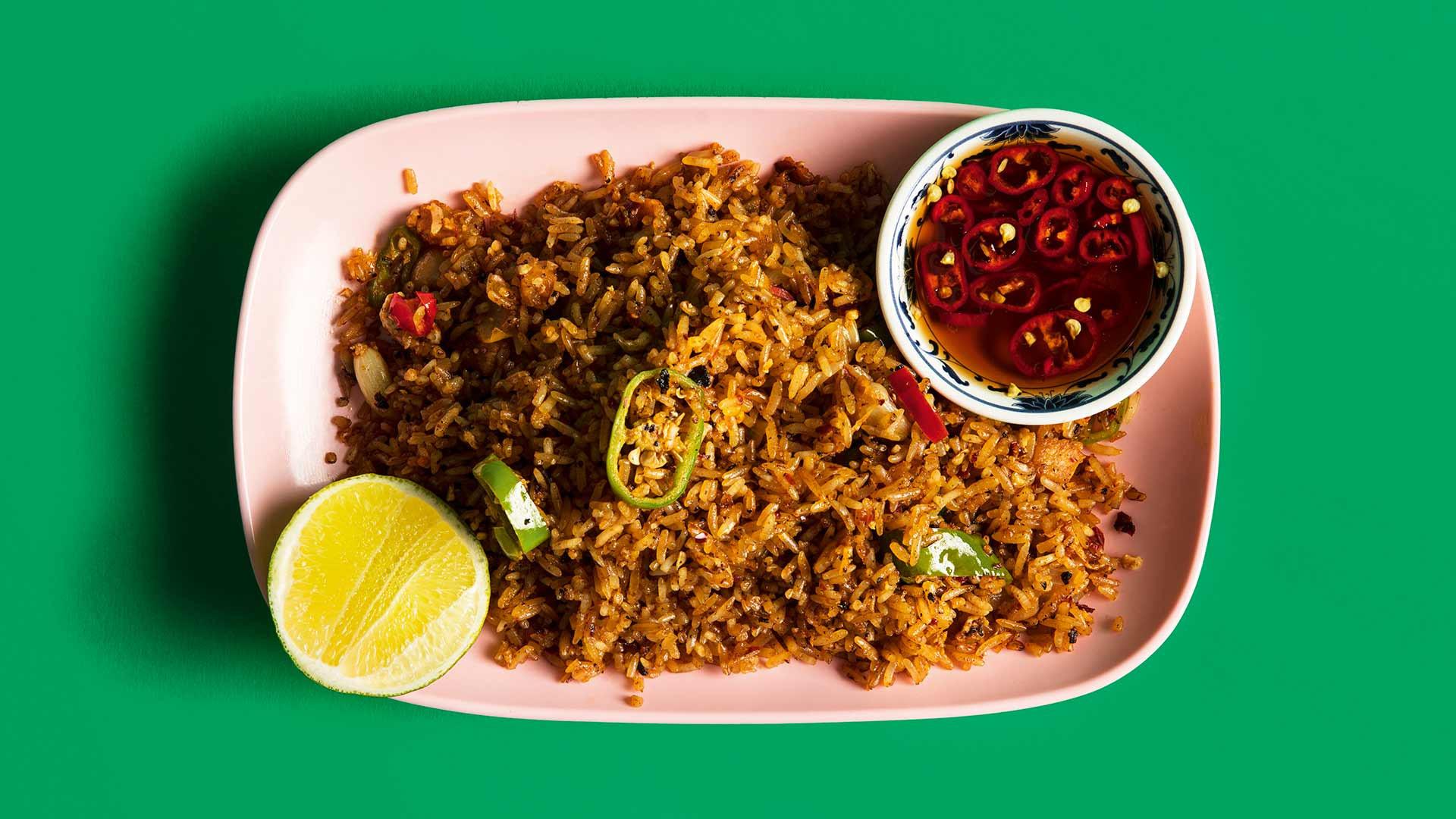 Lardo-fried rice from Kiln