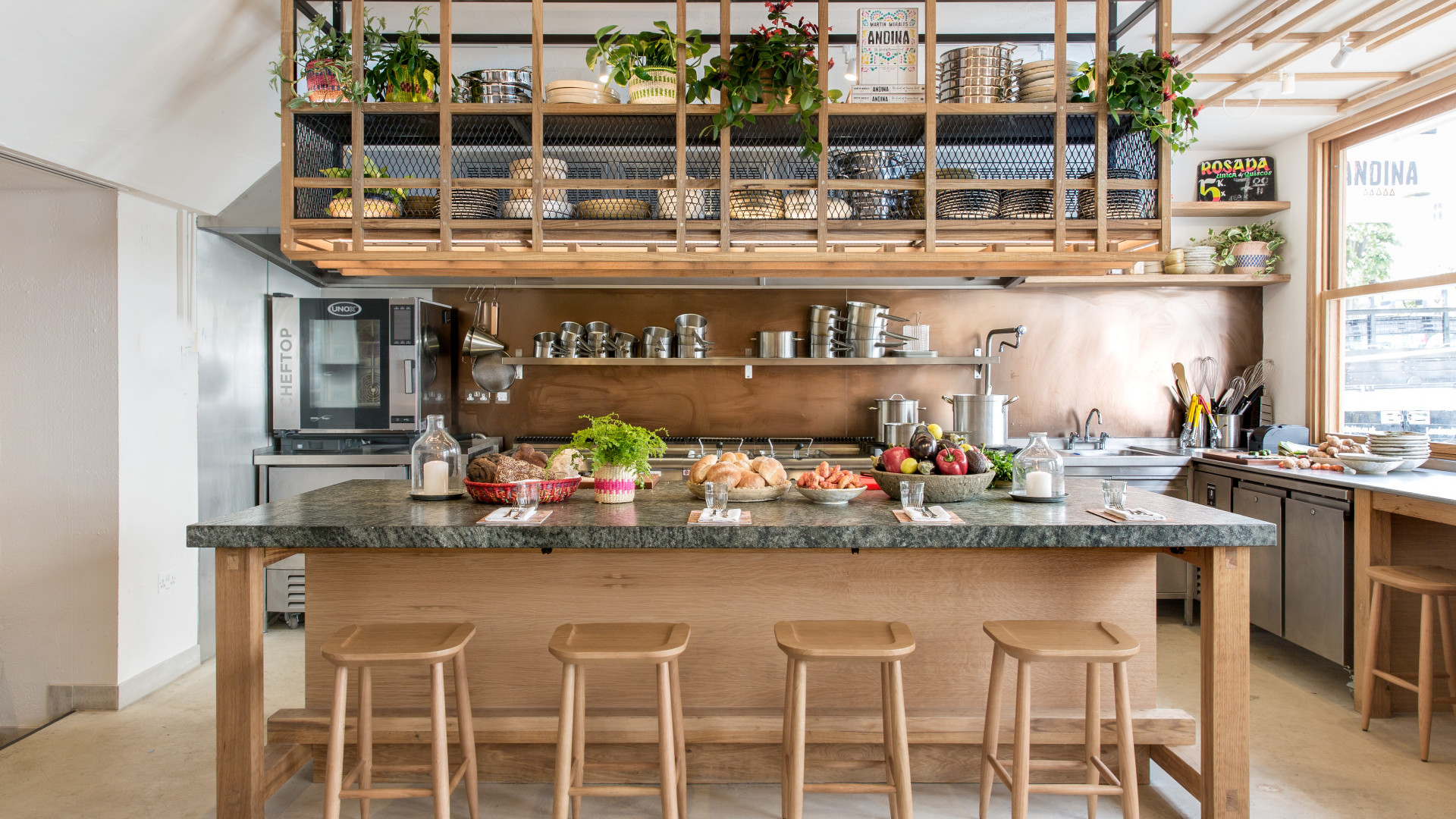 The open kitchen at Andina Notting Hill