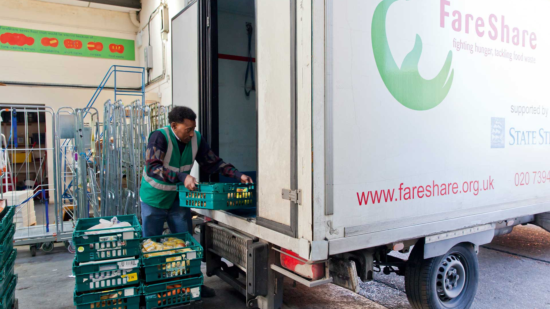 FareShare volunteers loading the van
