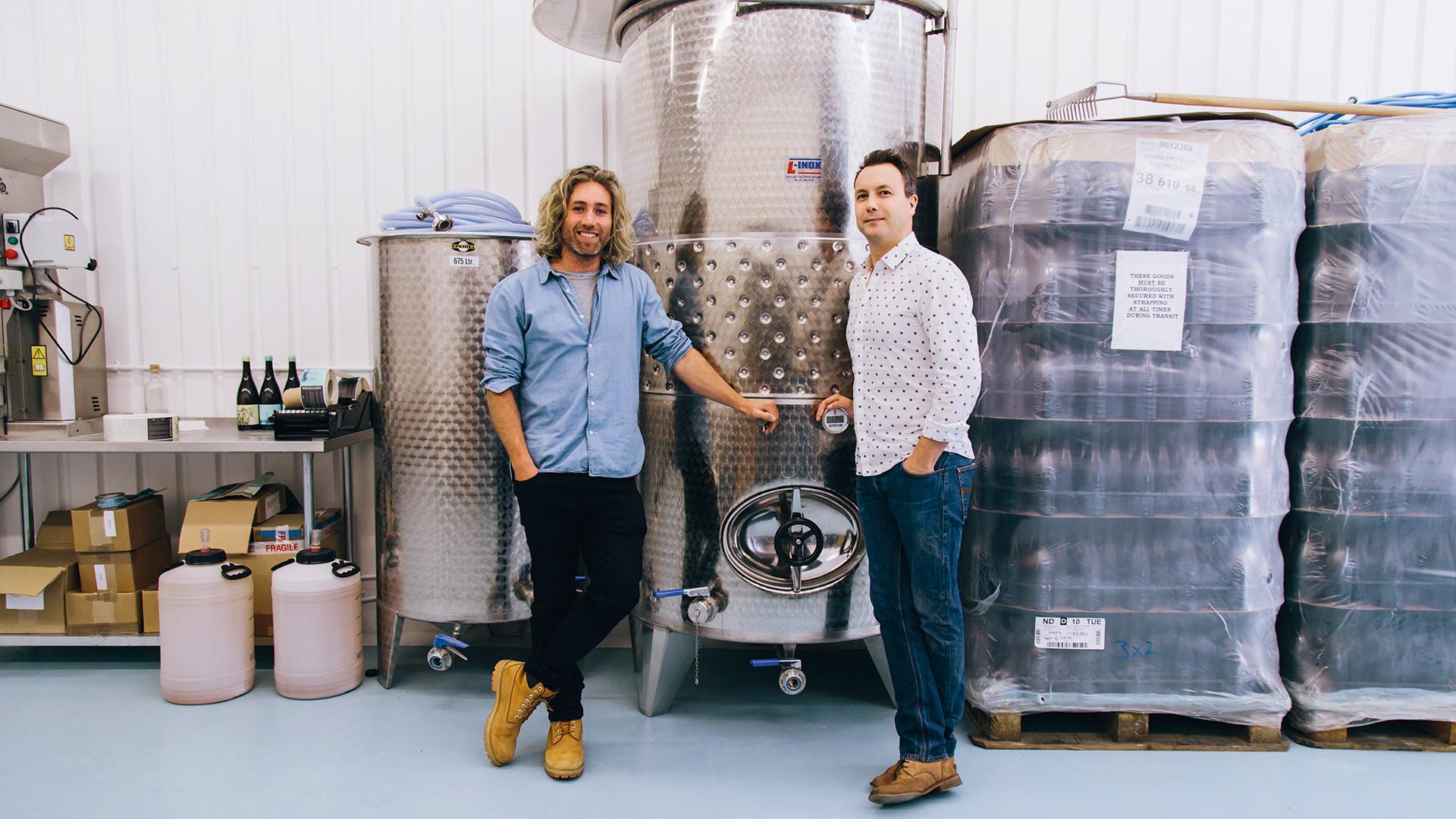 Warwick Smith and winemaker Josh Hammond, owners of Rengade London Wine