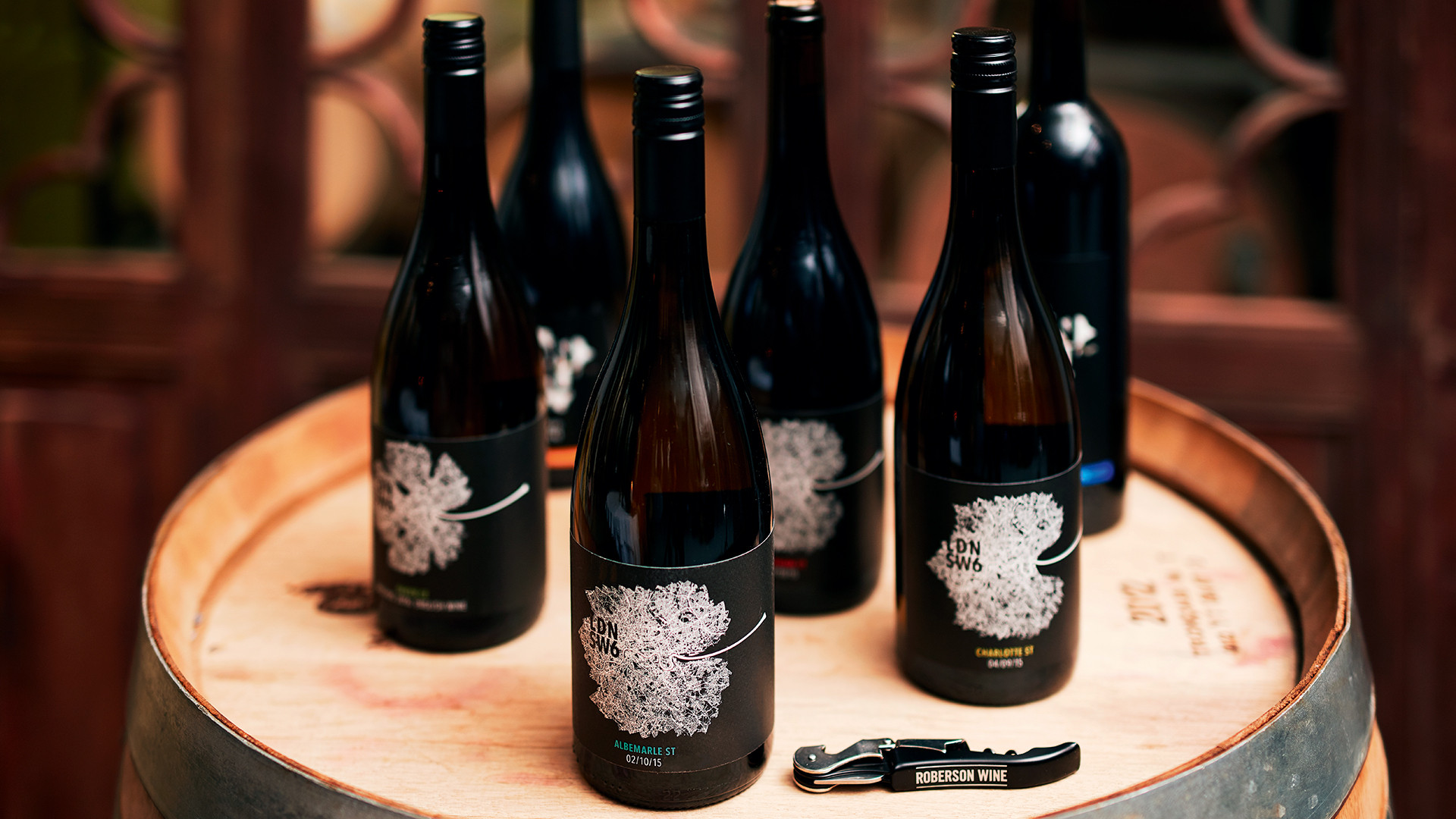 London Cru's multiple award winning wine-leaf label are designed by highly respected design agency The Partners