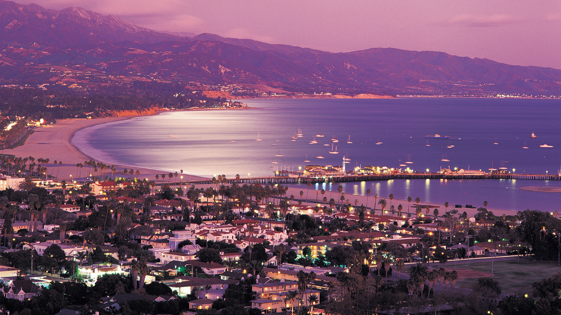 The small coastal city of Santa Barbara 'The American Riviera'