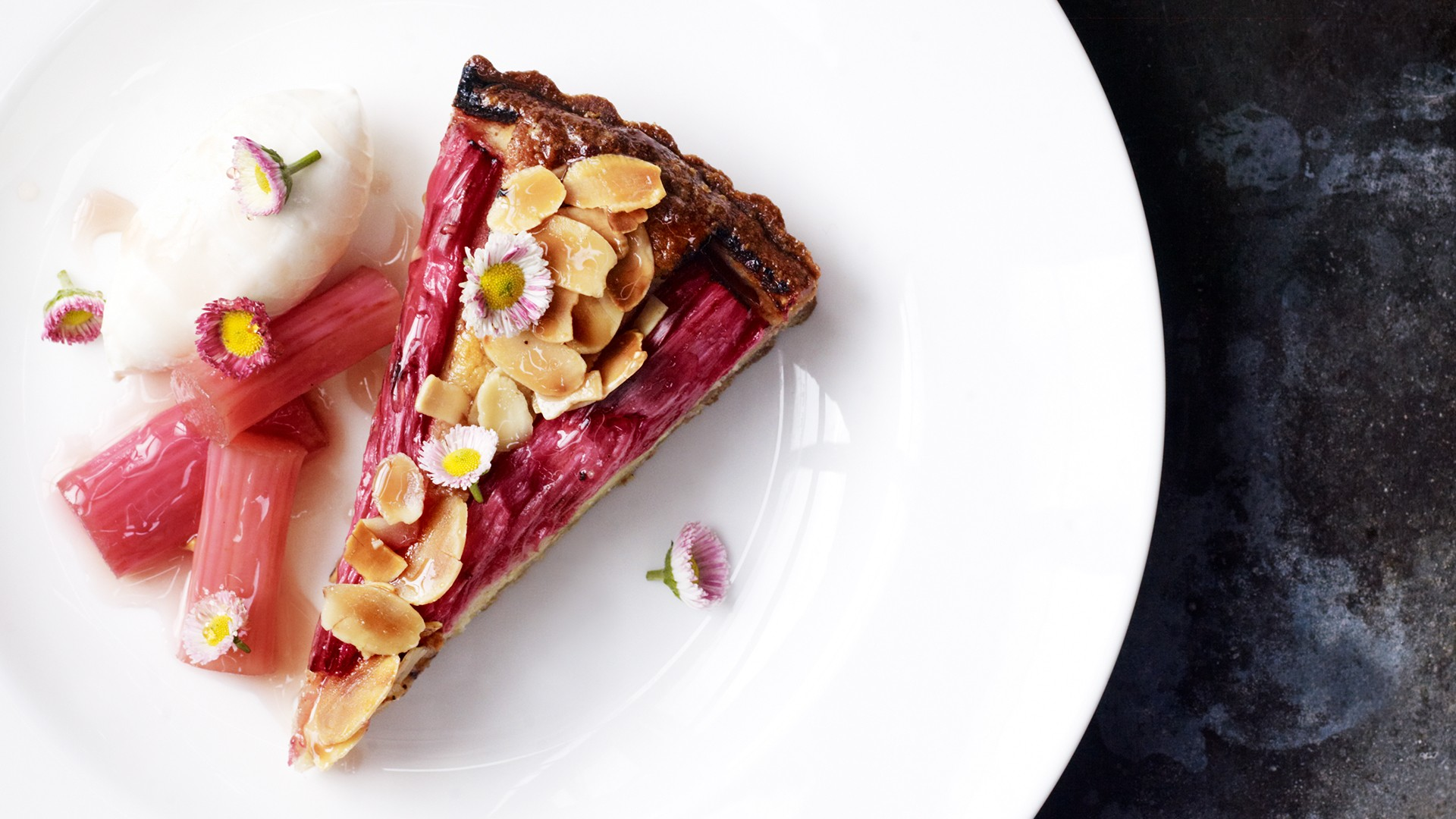 Rhubarb tart from The Petersham, Covent Garden