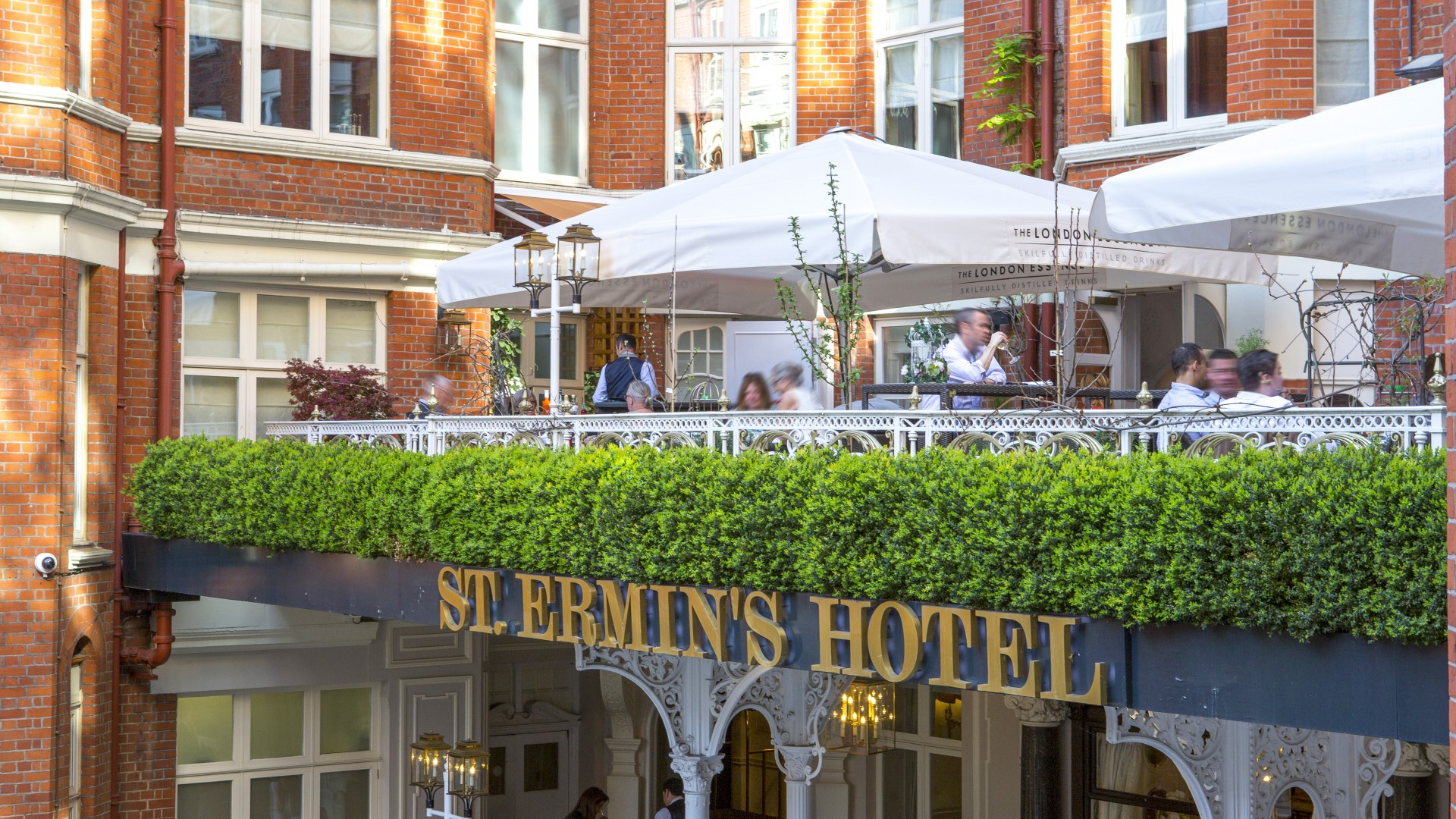 The terrace at St Ermin's Hotel