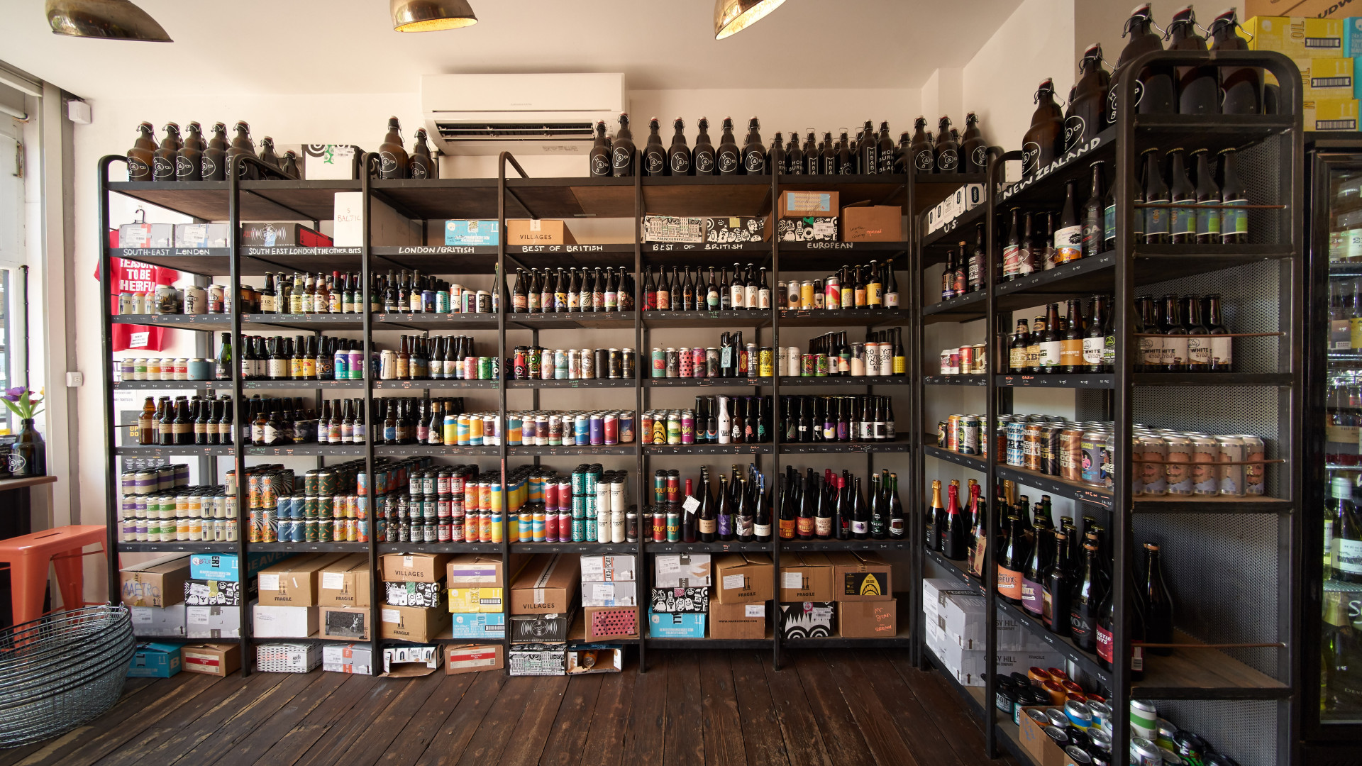 Stock at Hop Burns & Black in East Dulwich, London