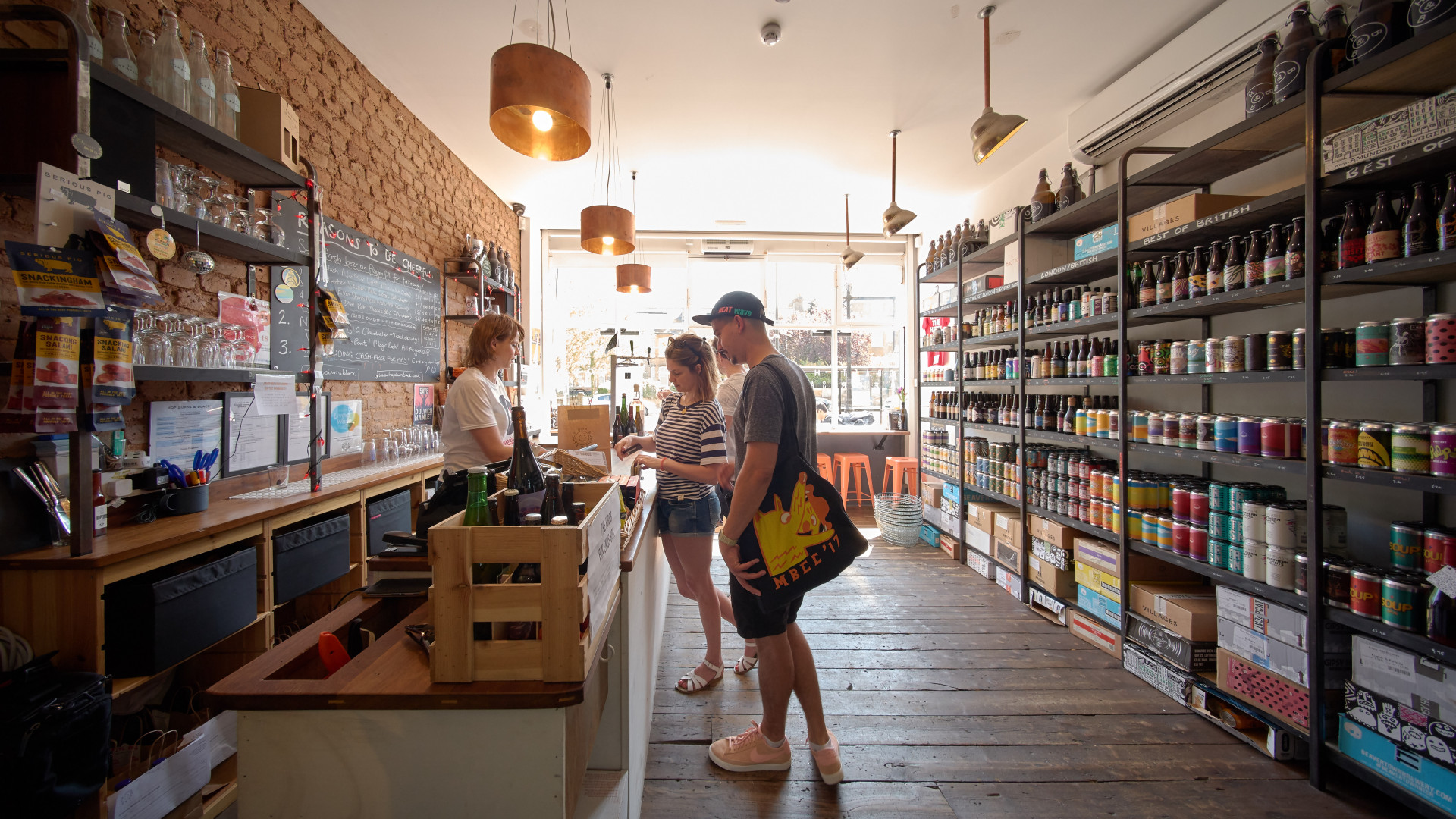 The shop at Hop Burns & Black in East Dulwich, London