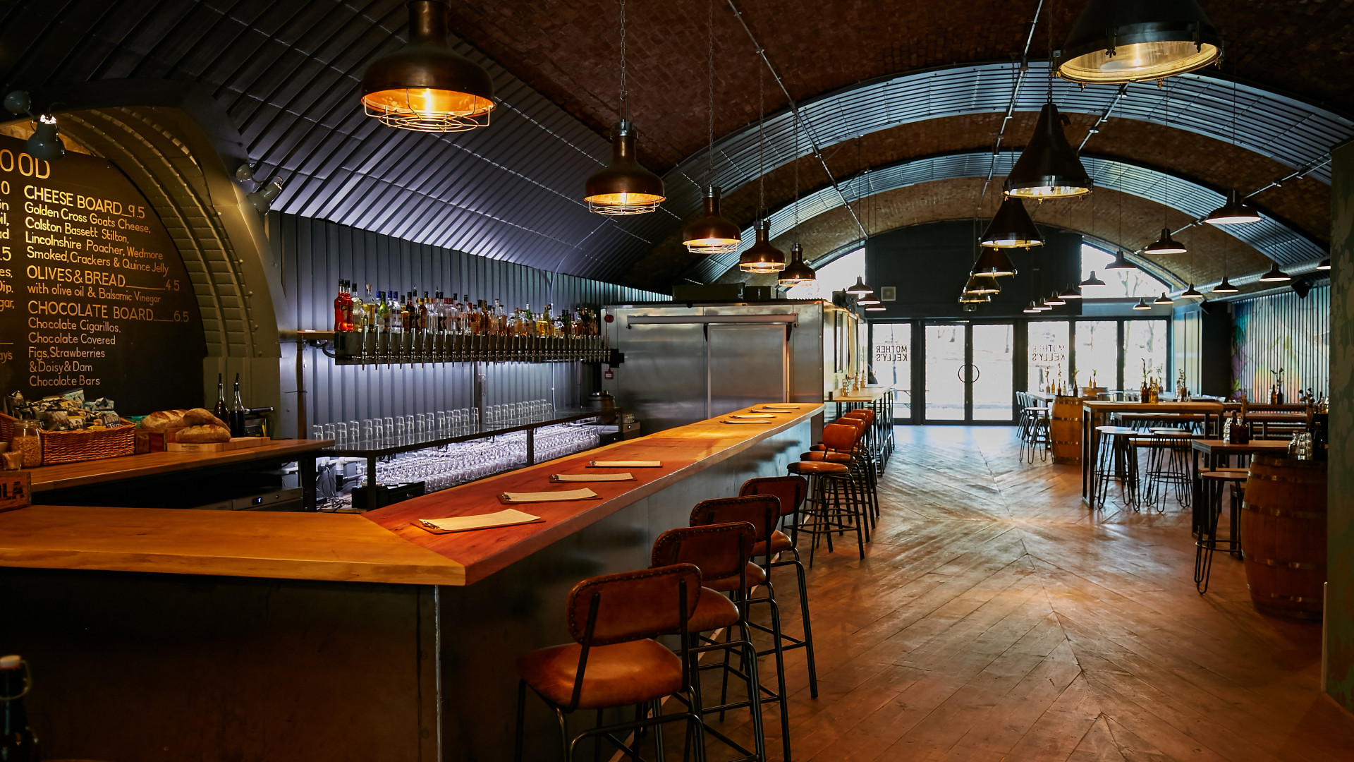 The bar at Mother Kelly's taproom in Vauxhall