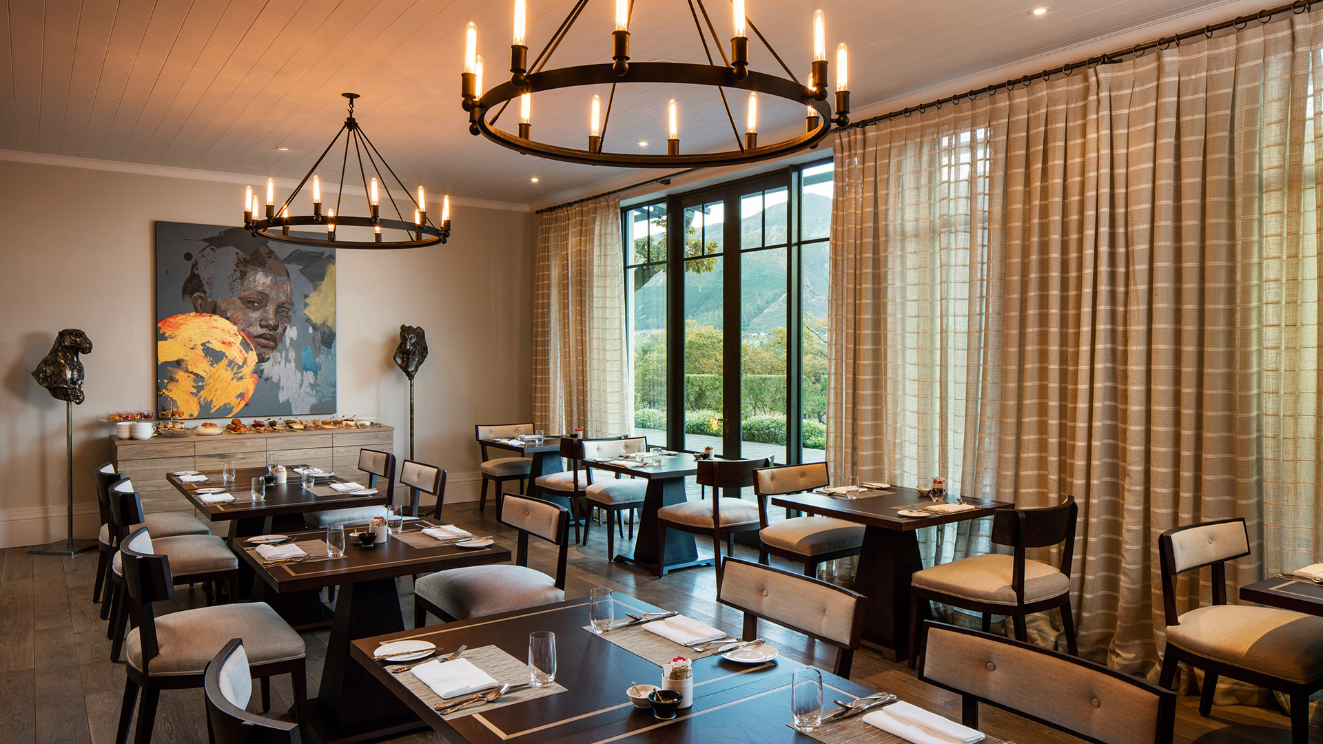 Leeu Estates' Dining Room restaurant