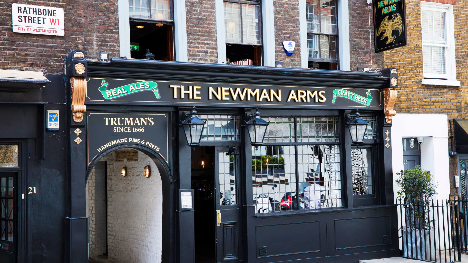 Exterior of the Newman Arms, London
