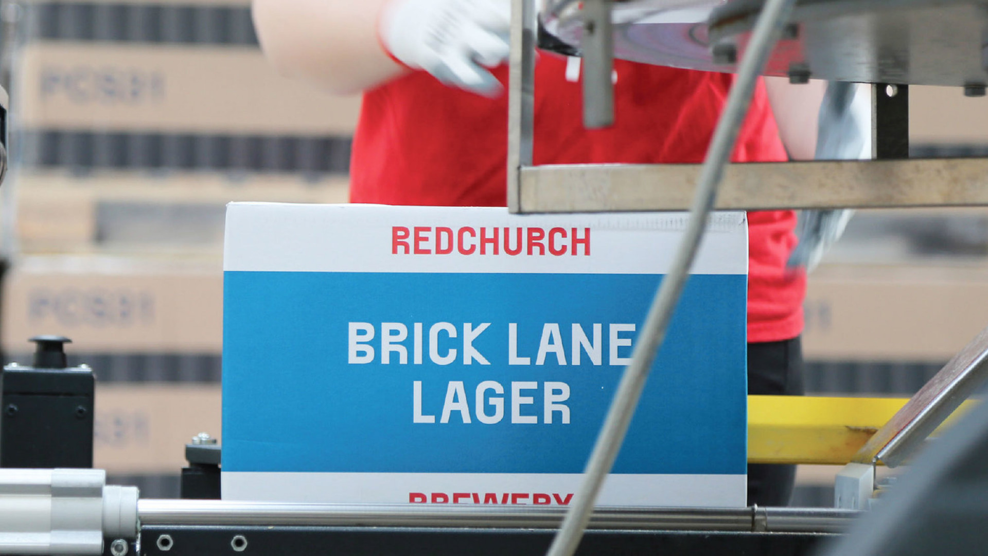 Packing Redchurch Brewery Beer at Harlow, Essex