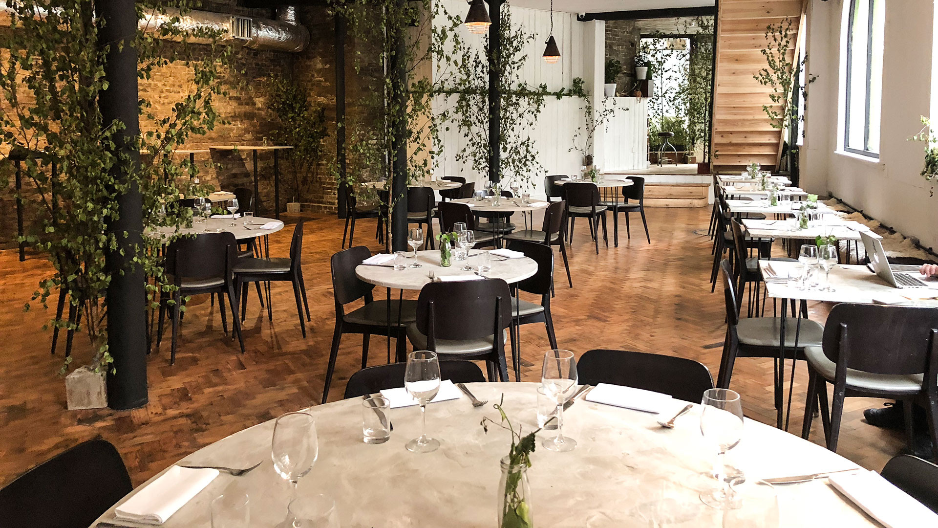The dining room at Native in London Bridge