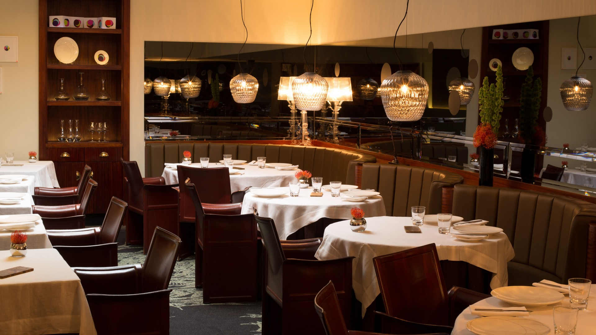 The dining room at Pied à Terre in Fitzrovia