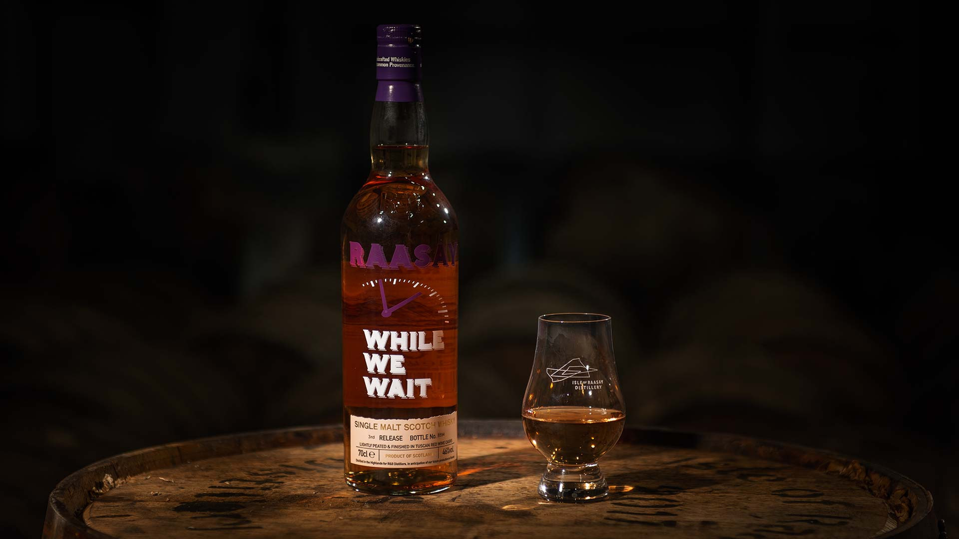 R&B's Raasay While We Wait whisky