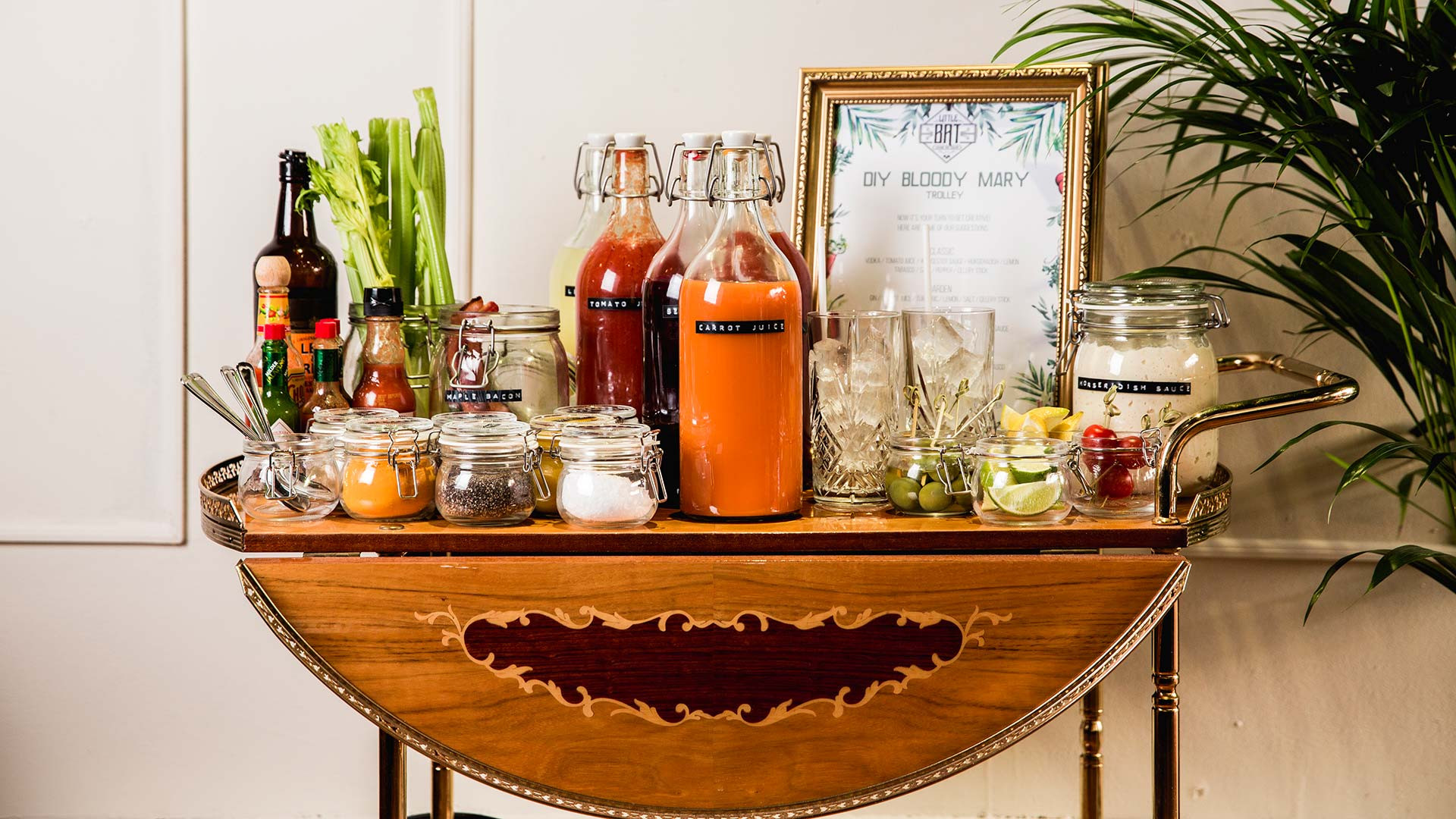 Little Bat's Bloody Mary trolley