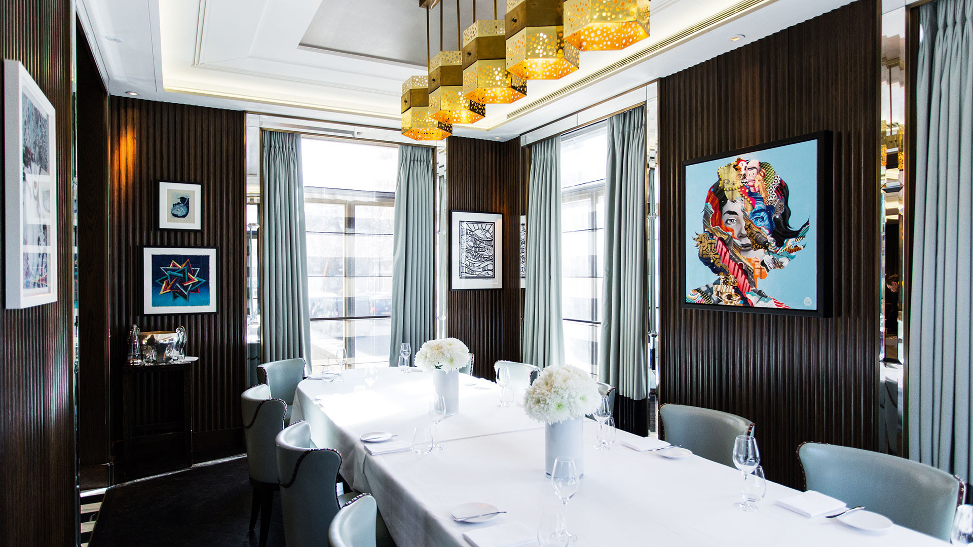 Interiors with flair at Marcus Wareing at The Berkeley