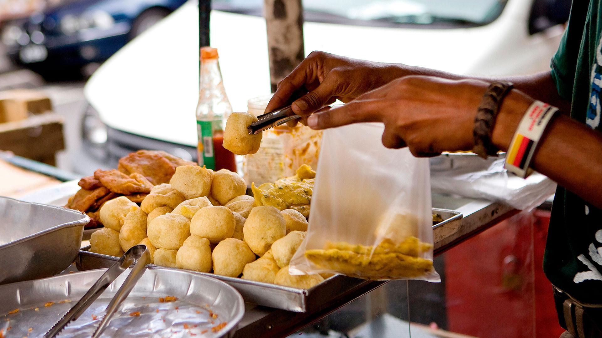 Street food in Port Louis