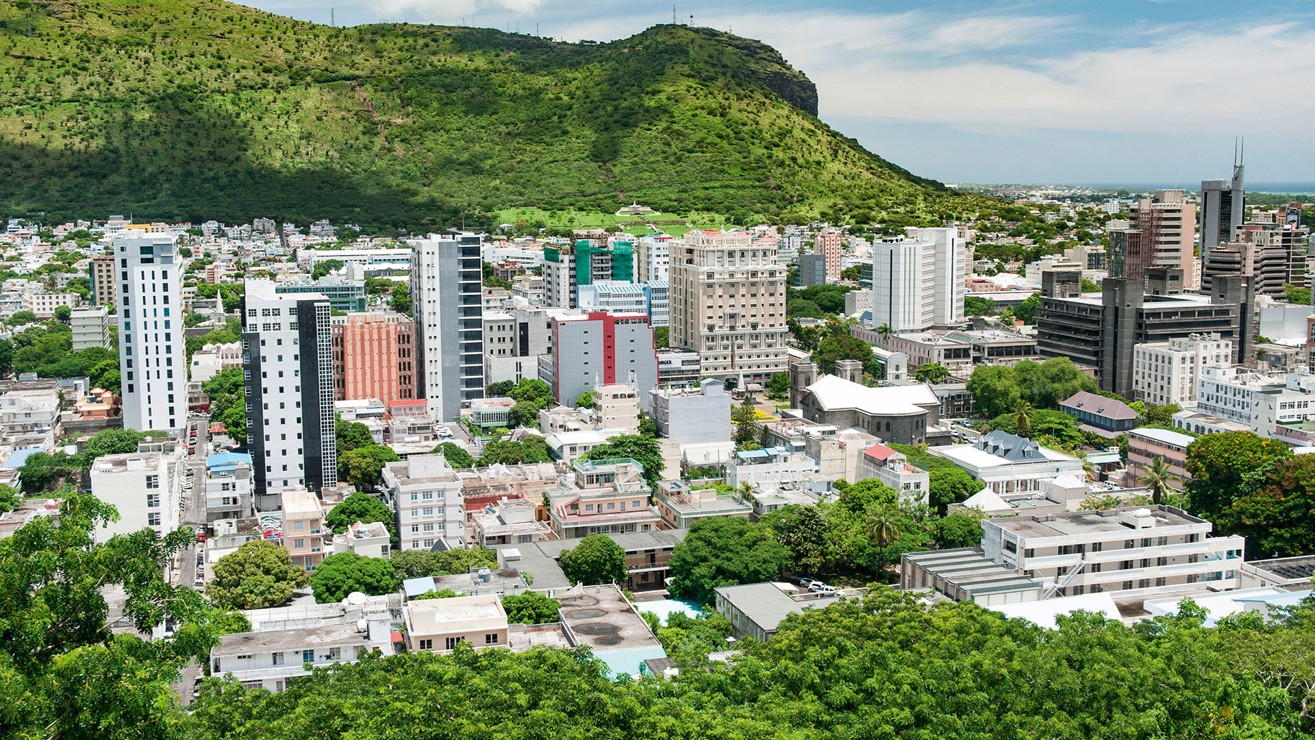 Port Louis, capital of Mauritius