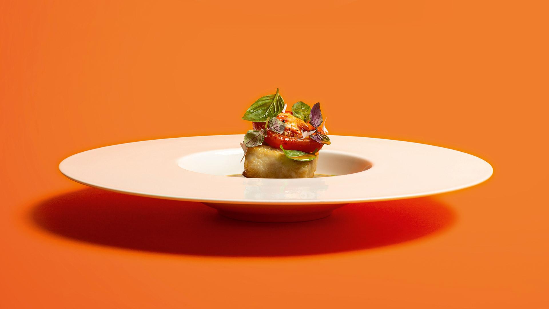 Adam Handling's Hake & tomatoes