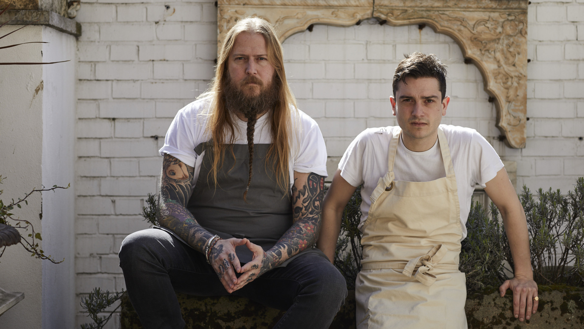 Jackson Boxer (right) and Andrew Clarke, chef-owners of St Leonards