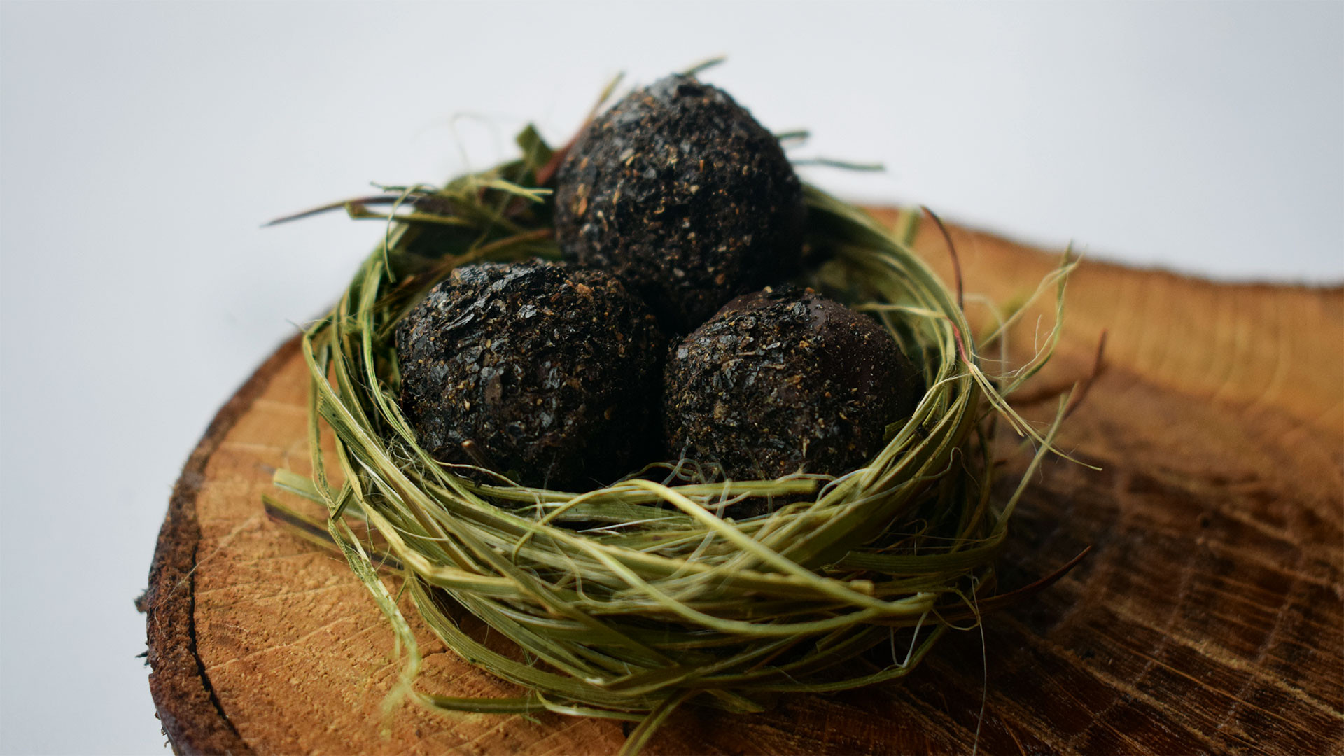 Mānuka smoked chocolate truffles