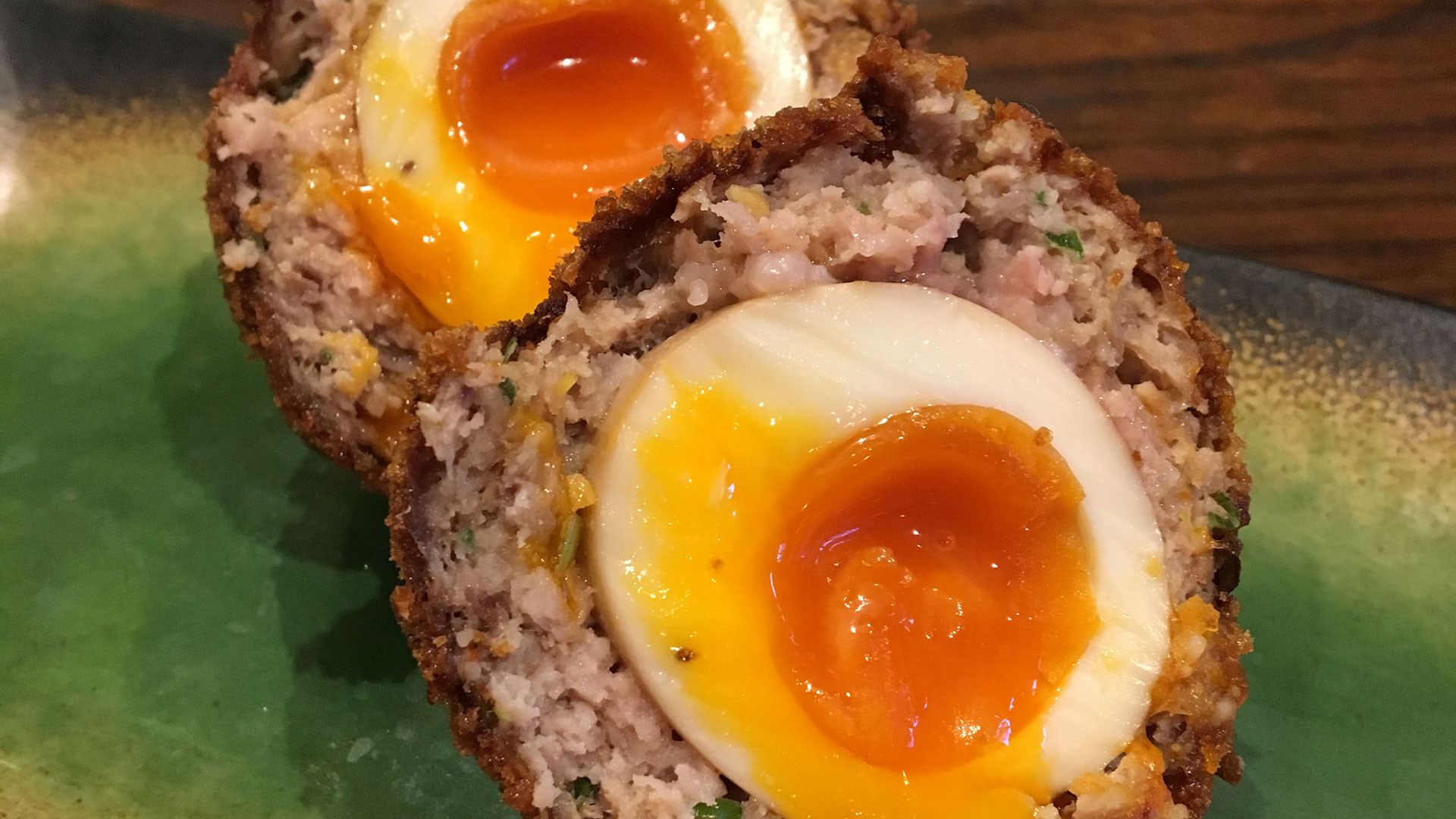 Nanban's tea-pickled scotch egg